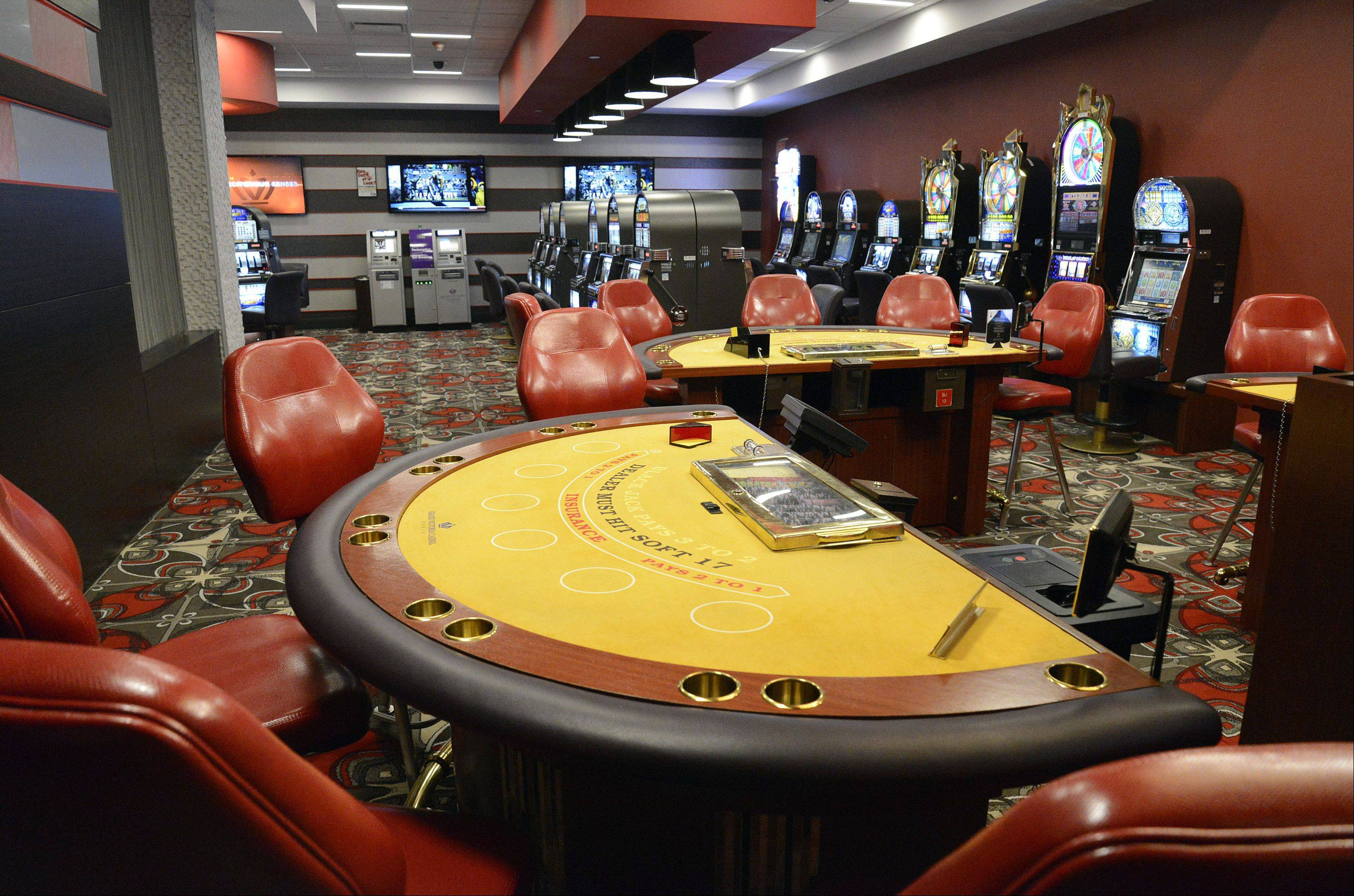 Grand Victoria Casino in Elgin has finished renovations in its casino/boat area. A separate gambling area, off the main casino floor, features a table and slots that start at a higher dollar amount.