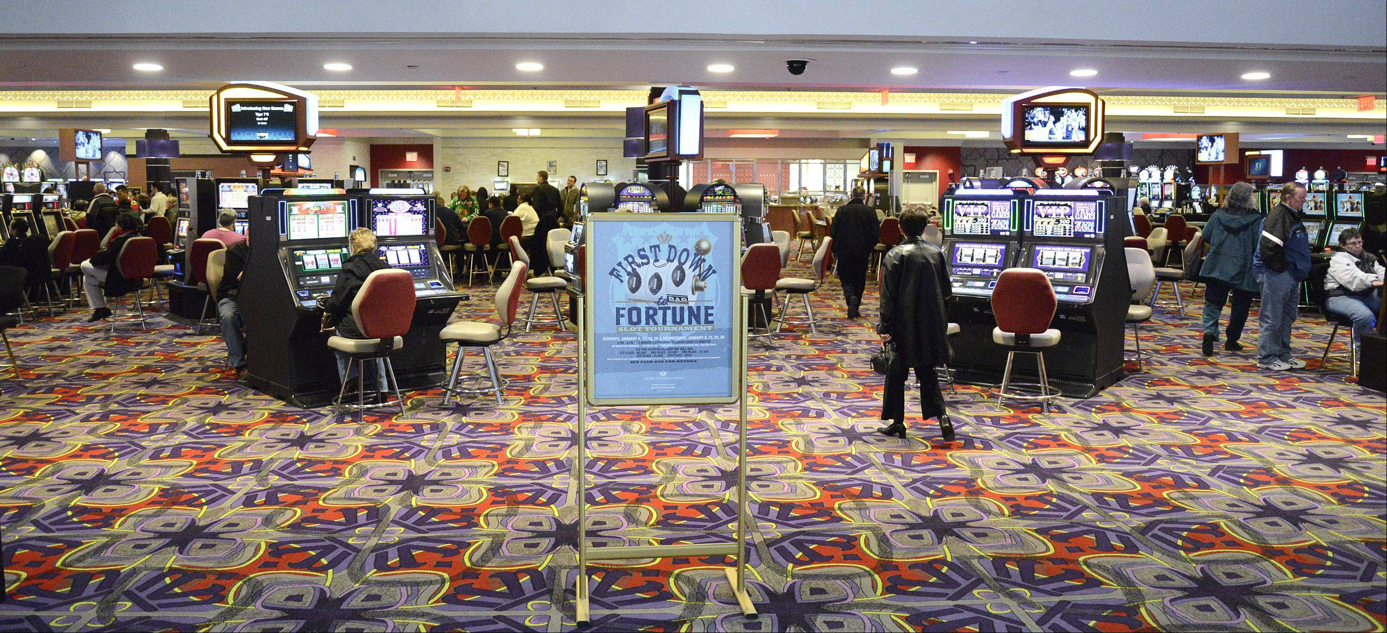 The new entrance to the Grand Victoria Casino in Elgin is now wide open.