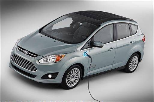 This undated image provided by Ford shows the C-MAX Solar Energi Concept car. At the January 2014 International CES gadget show, Ford plans to unveil the solar-powered vehicle that offers the same performance as a plug-in hybrid. The U.S. auto maker says that by using solar power instead of an electric plug, a typical owner will reduce their annual greenhouse gas emissions by four metric tons.