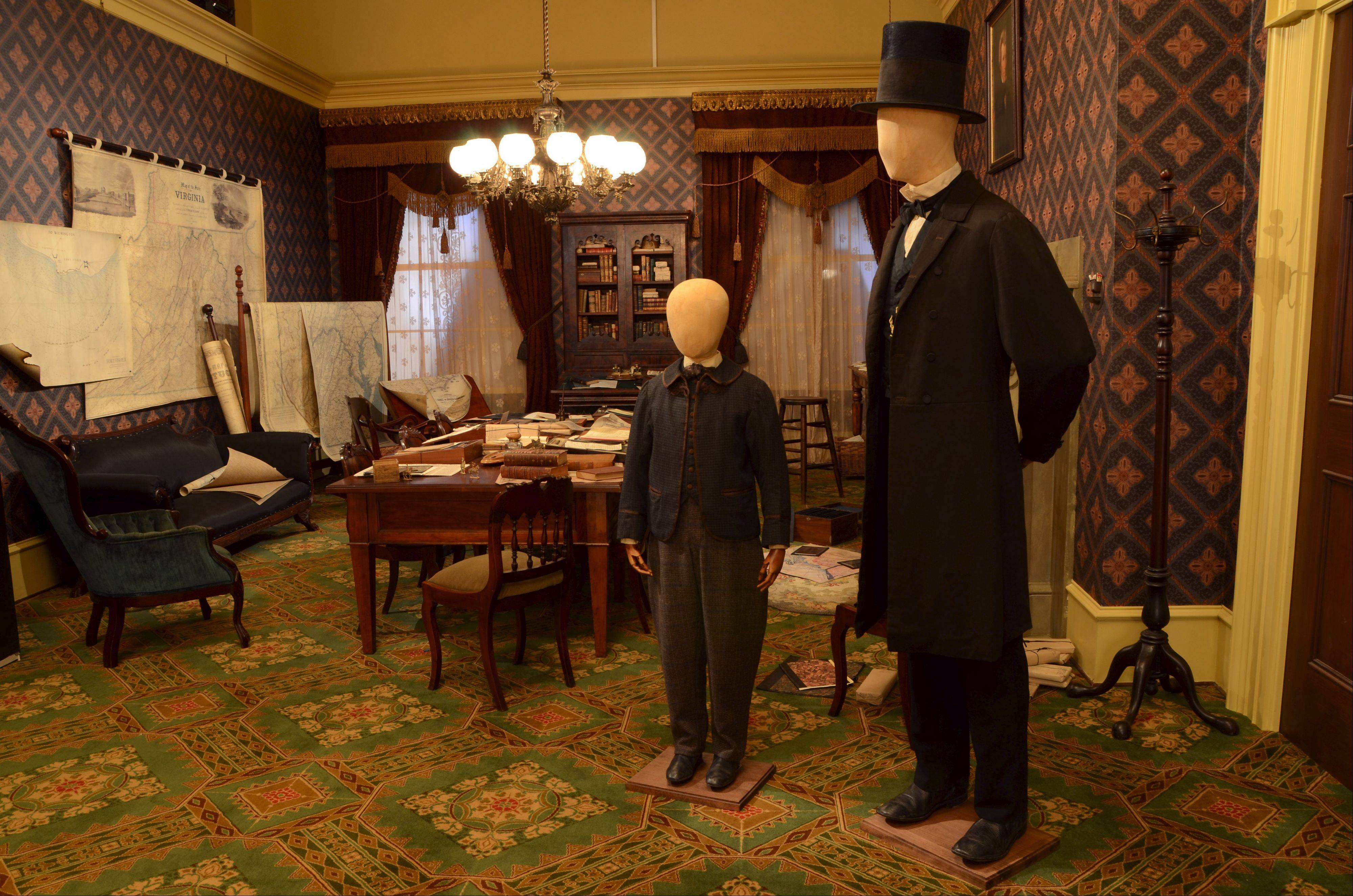 "A new exhibit at the Abraham Lincoln museum in Springfield includes this office set used in the 2012 film ""Lincoln."""