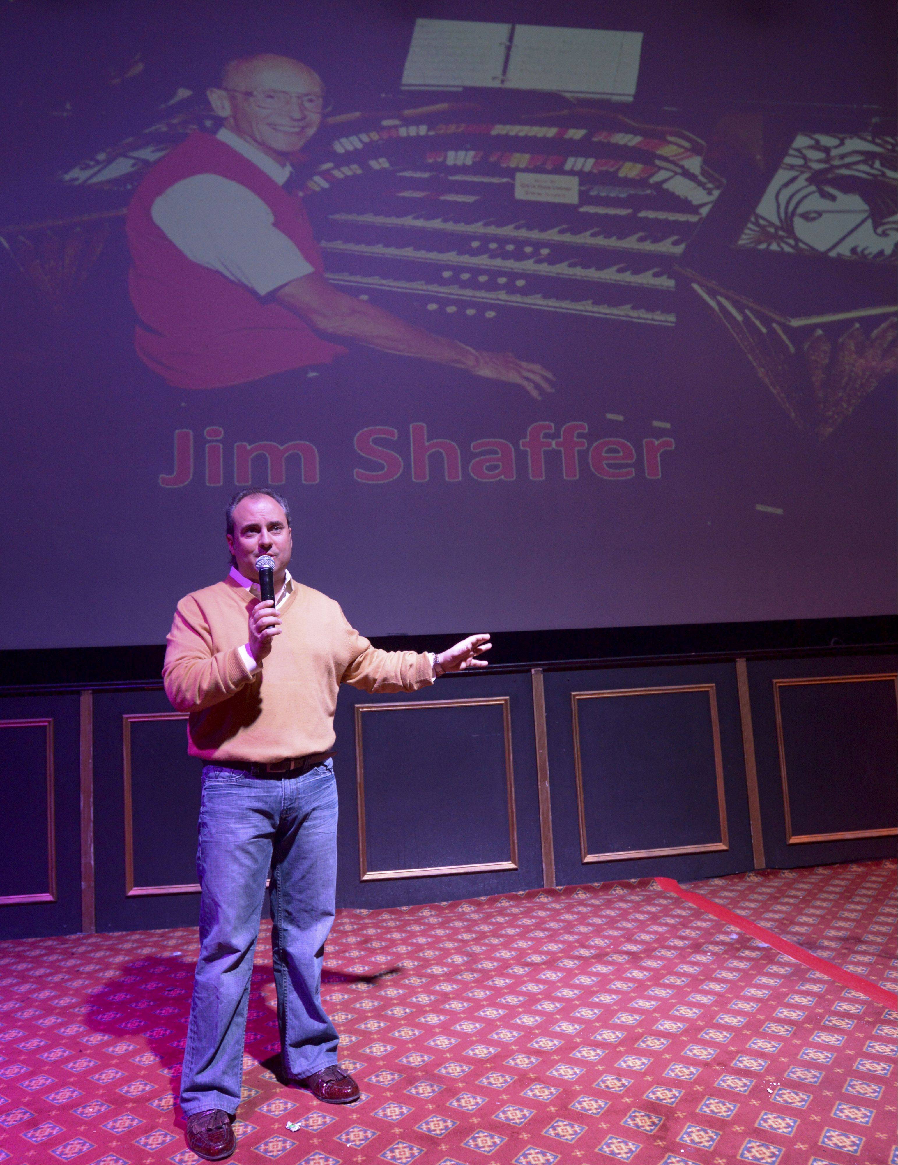Arcada Theatre owner Ron Onesti kicks off a tribute Sunday to longtime organist Jim Shaffer, who died in November at age 78. Onesti said famous musicians who played the theater were in awe of Shaffer and the organ.