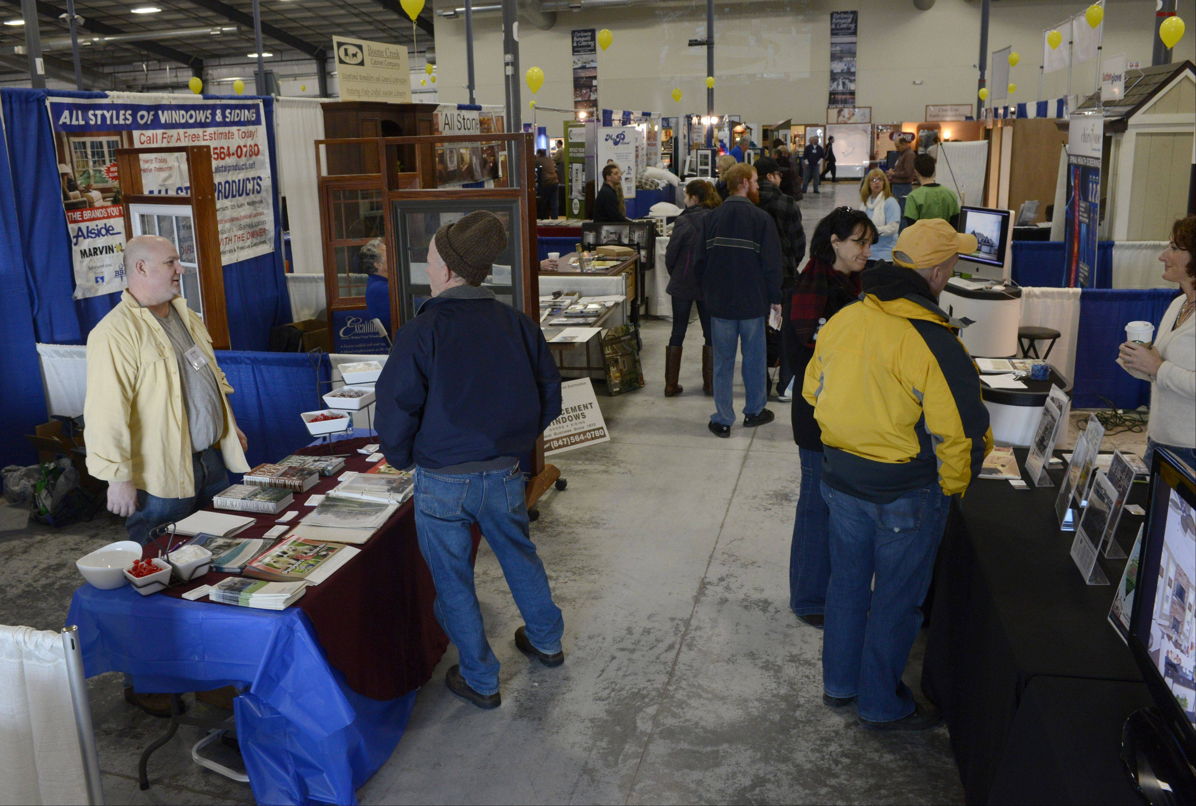 Professional contractors and amateur renovators traveled to the Lake County Fairgrounds in Grayslake this weekend for the Home Building and Remodeling Expo. The event featured demonstrations and presentations at more than 100 booths.
