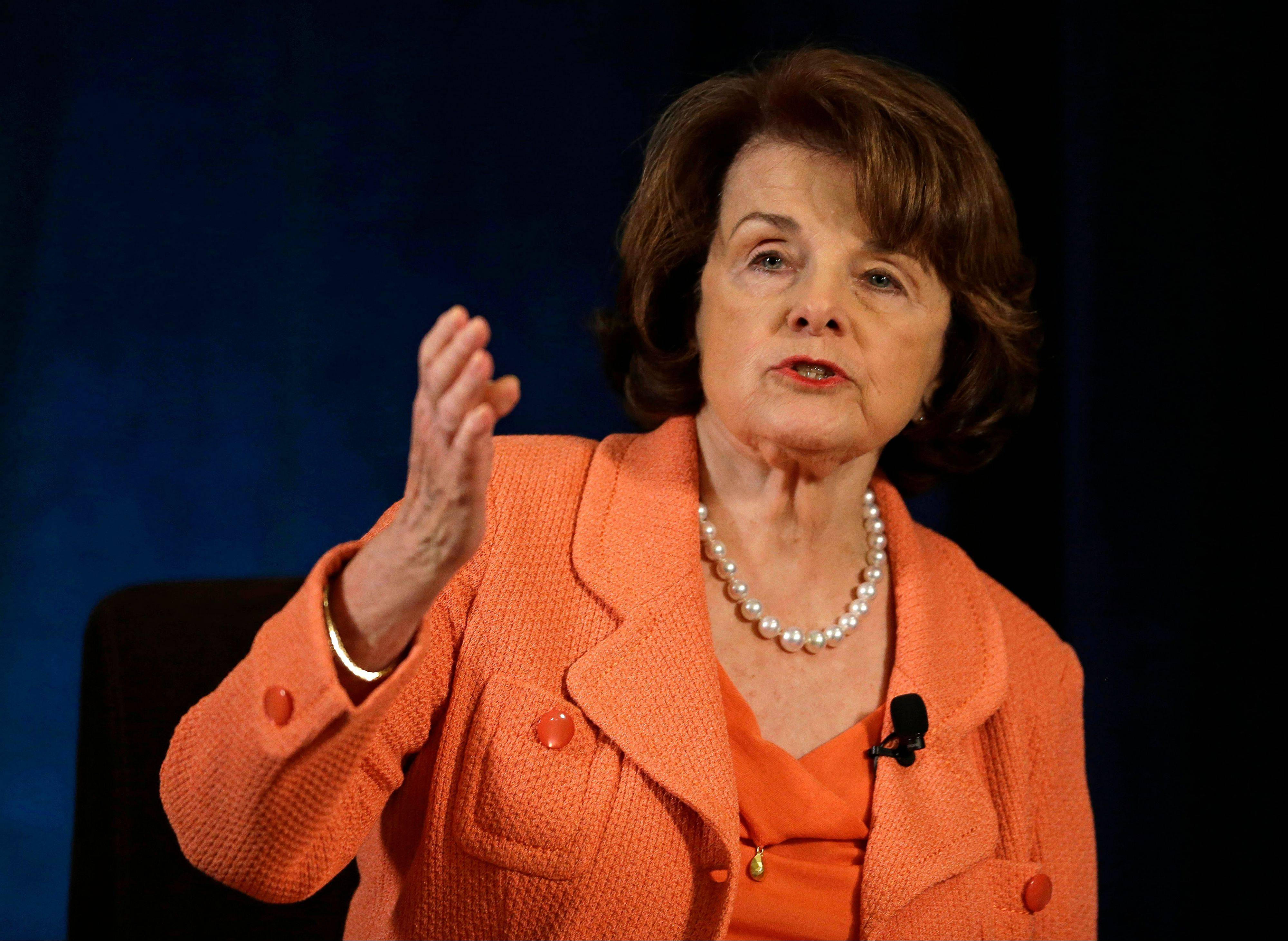 Sen. Dianne Feinstein, who chairs the Senate Intelligence Committee, said President Obama's plan to require a special judge's advance approval before intelligence agencies can examine someone's data, won't work.