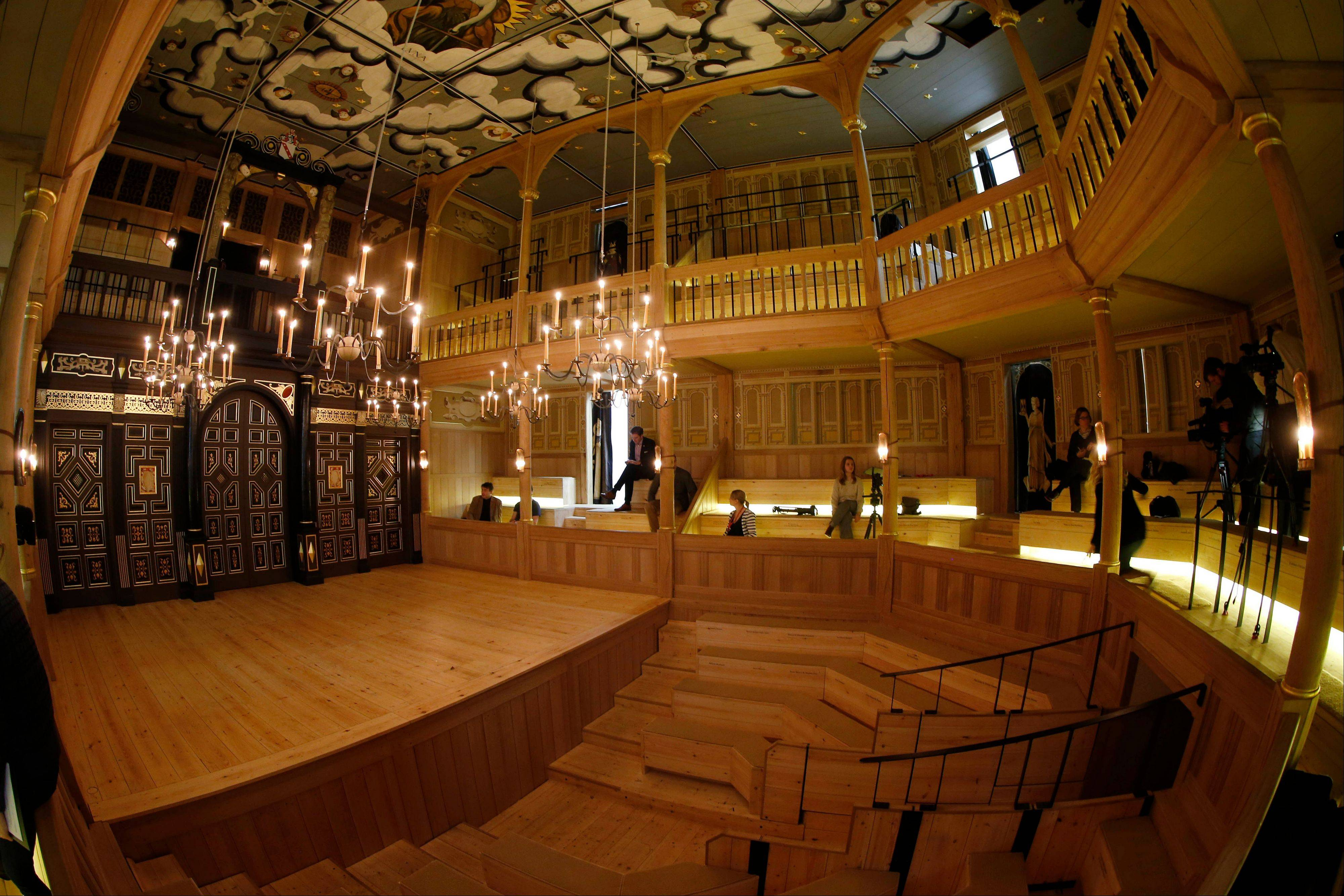 The Sam Wanamaker Playhouse in London is a reproduction of a Jacobean playhouse and it seats 340 people with two tiers of galleried seating with an historically accurate pit seating area.