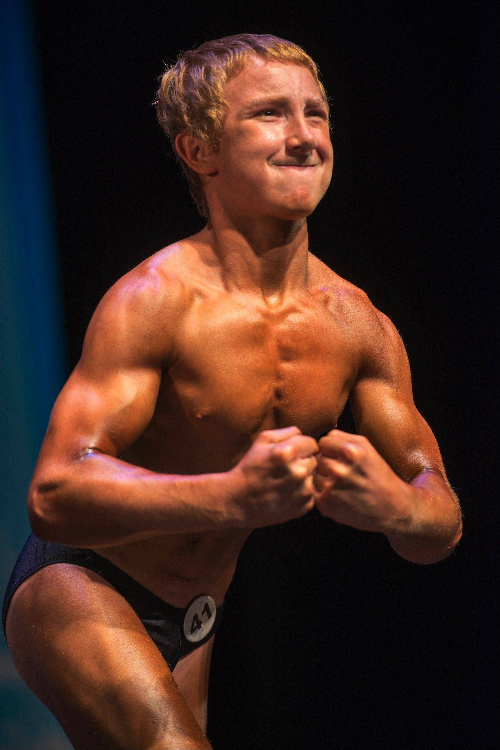 Jake Schellenschlager, 13 at the time, was the youngest competitor at the 2013 Musclemania Capitol Tournament of Champions last May 18 in Silver Spring, Md.
