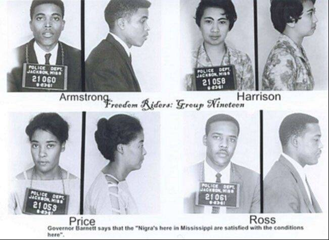 Thomas Armstrong and three others were arrested on June 23, 1961, shortly after they walked into a Jackson, Miss., bus station and sat down in a waiting room reserved for whites.