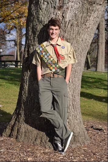 Dundee-Crown junior William Krueger recently earned the rank of Eagle Scout at an Eagle Court of Honor. He is a member of West Dundee Boy Scout Troop 32.