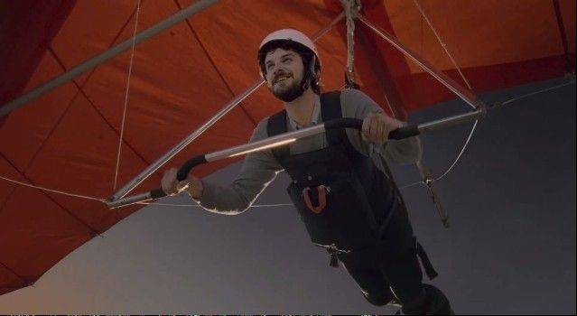 Schaumburg native Michael Carlson said his scariest commercial shoot was pretending to hang glide into power lines for a DirecTV commercial.