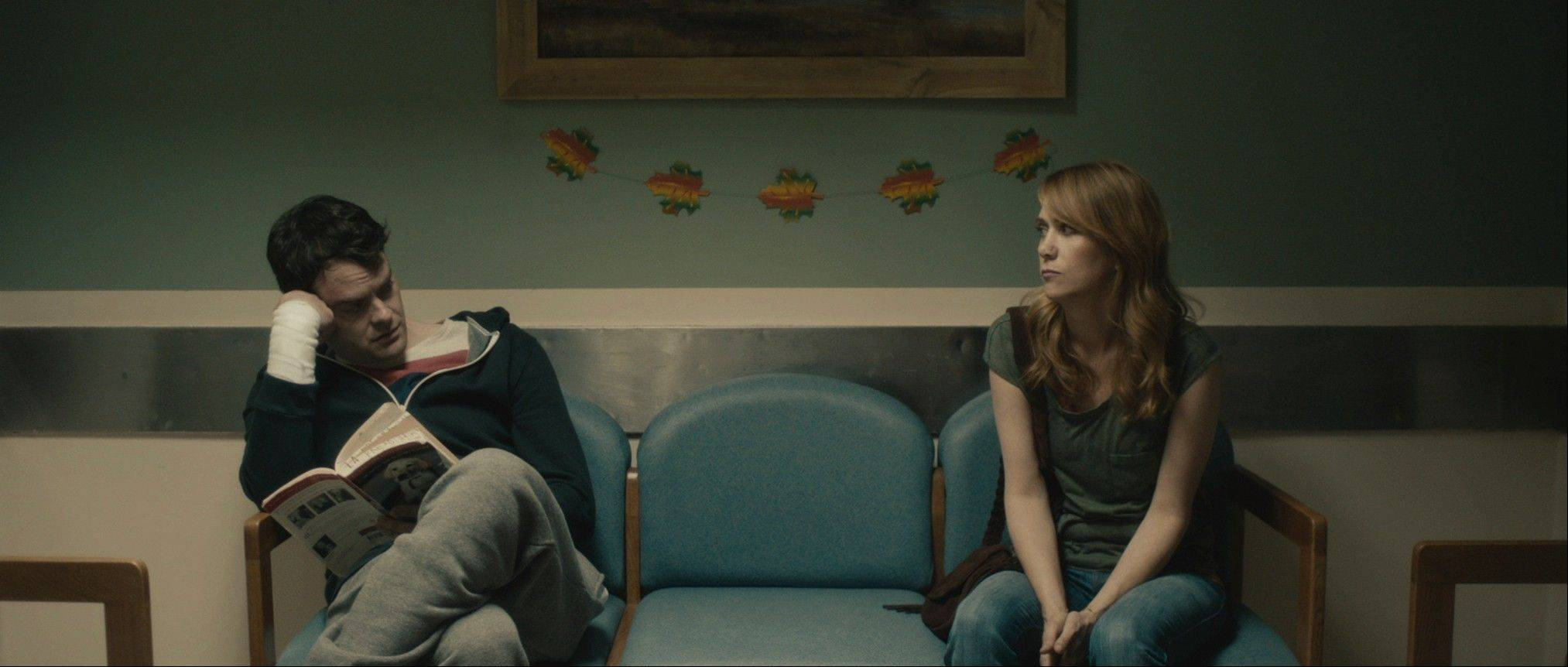 "Bill Hader, left, and Kristen Wiig, star as estranged twins in ""The Skeleton Twins,"" directed by Craig Johnson."
