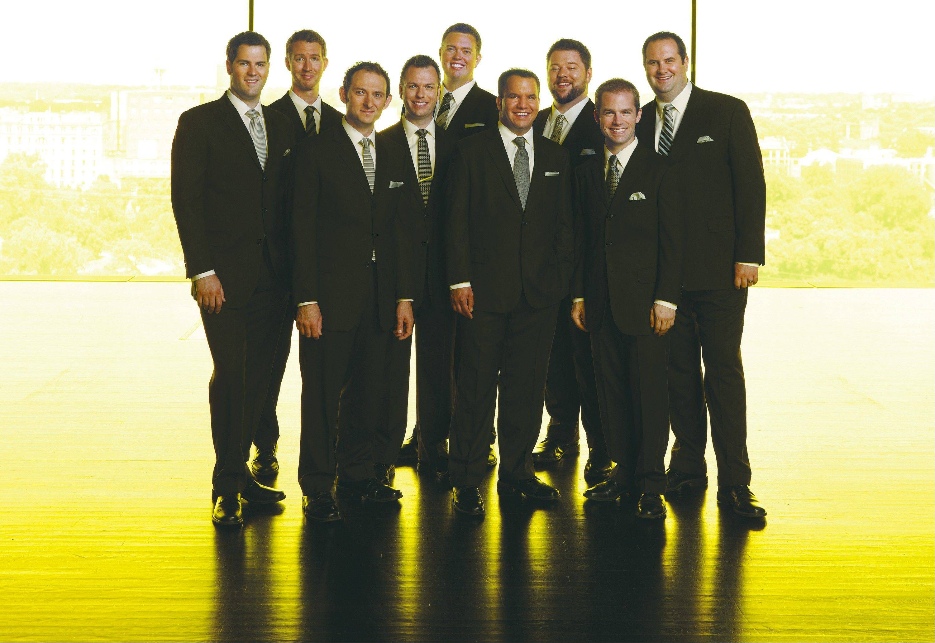 The nine-member male vocal ensemble Cantus performs in Grayslake at College of Lake County's Lumber Center for the Performing Arts on Sunday, Jan. 26.
