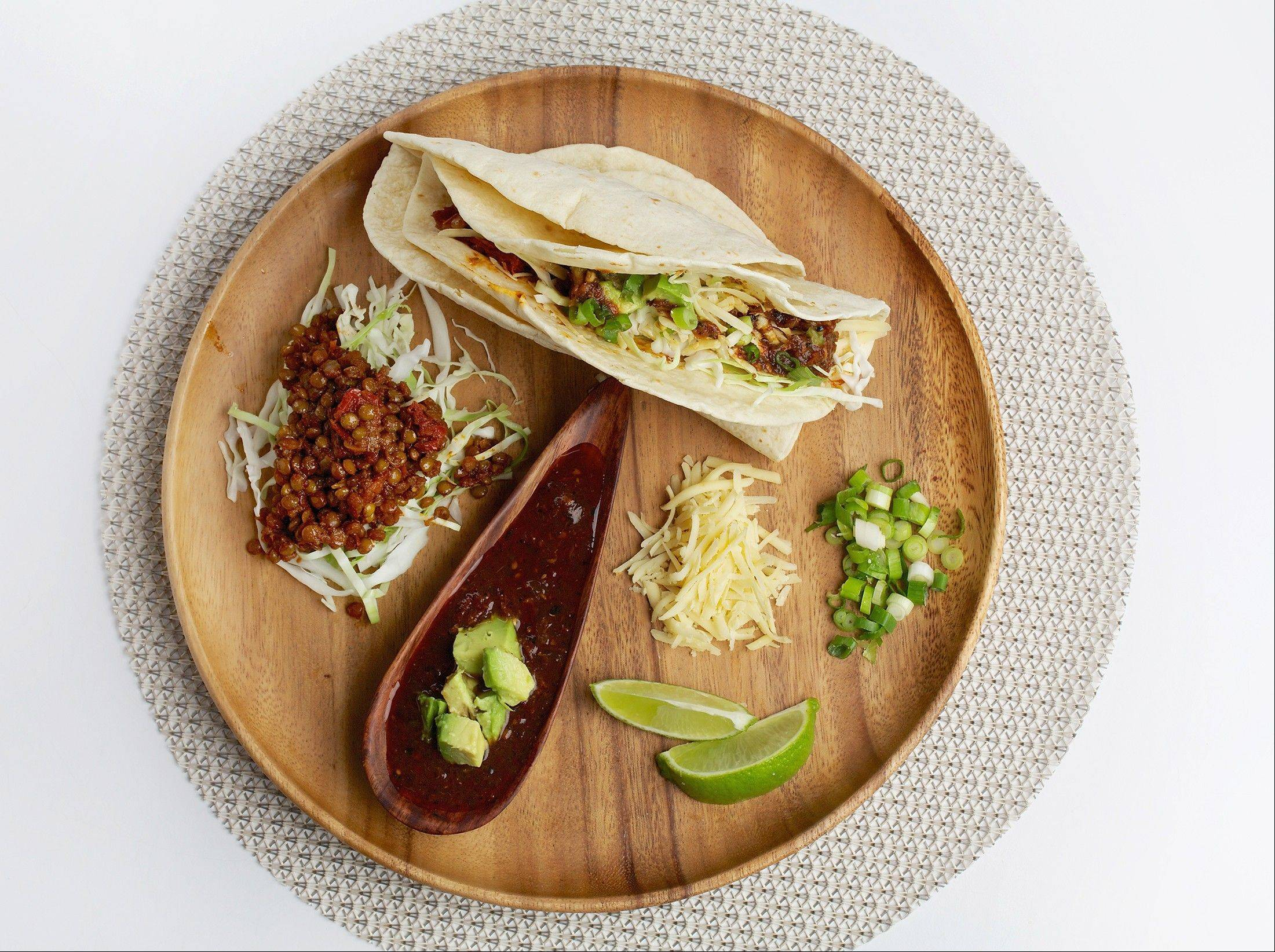 Serve Tacos With Spicy, Smoky Lentils for a vegetarian version of family taco night.