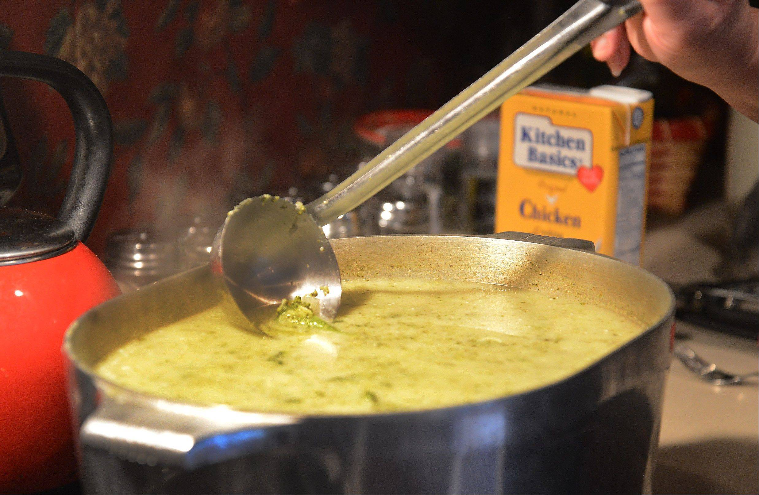 Cook of the Week Patty Nicpon adds cream cheese to boost the rich texture of her cream of broccoli soup.