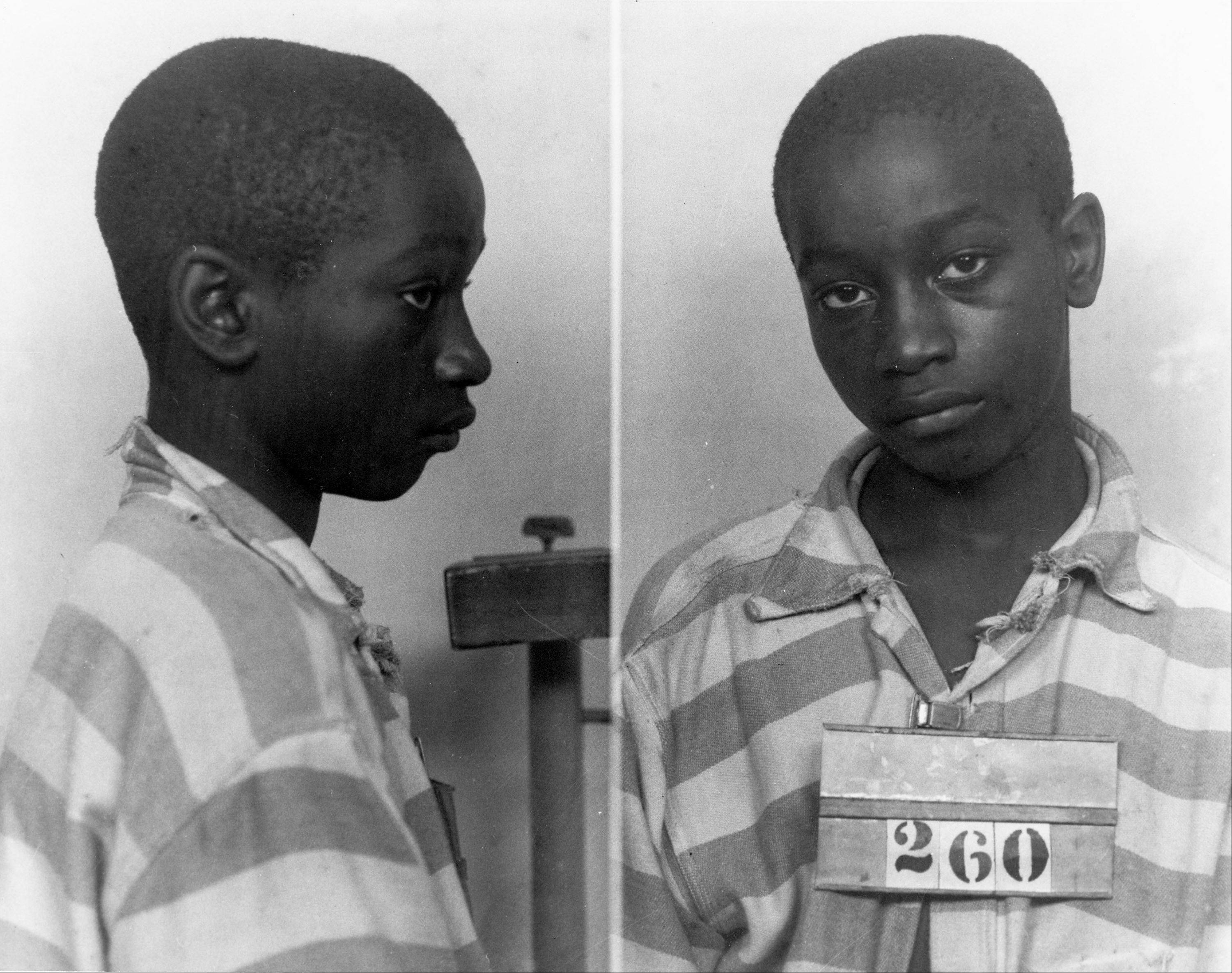 George Stinney Jr., the youngest person ever executed in South Carolina, in 1944. Supporters of Stinney plan to argue Tuesday, Jan. 21, 2014, that there wasn't enough evidence to find him guilty in 1944 of killing a 7-year-old and an 11-year-old girl.