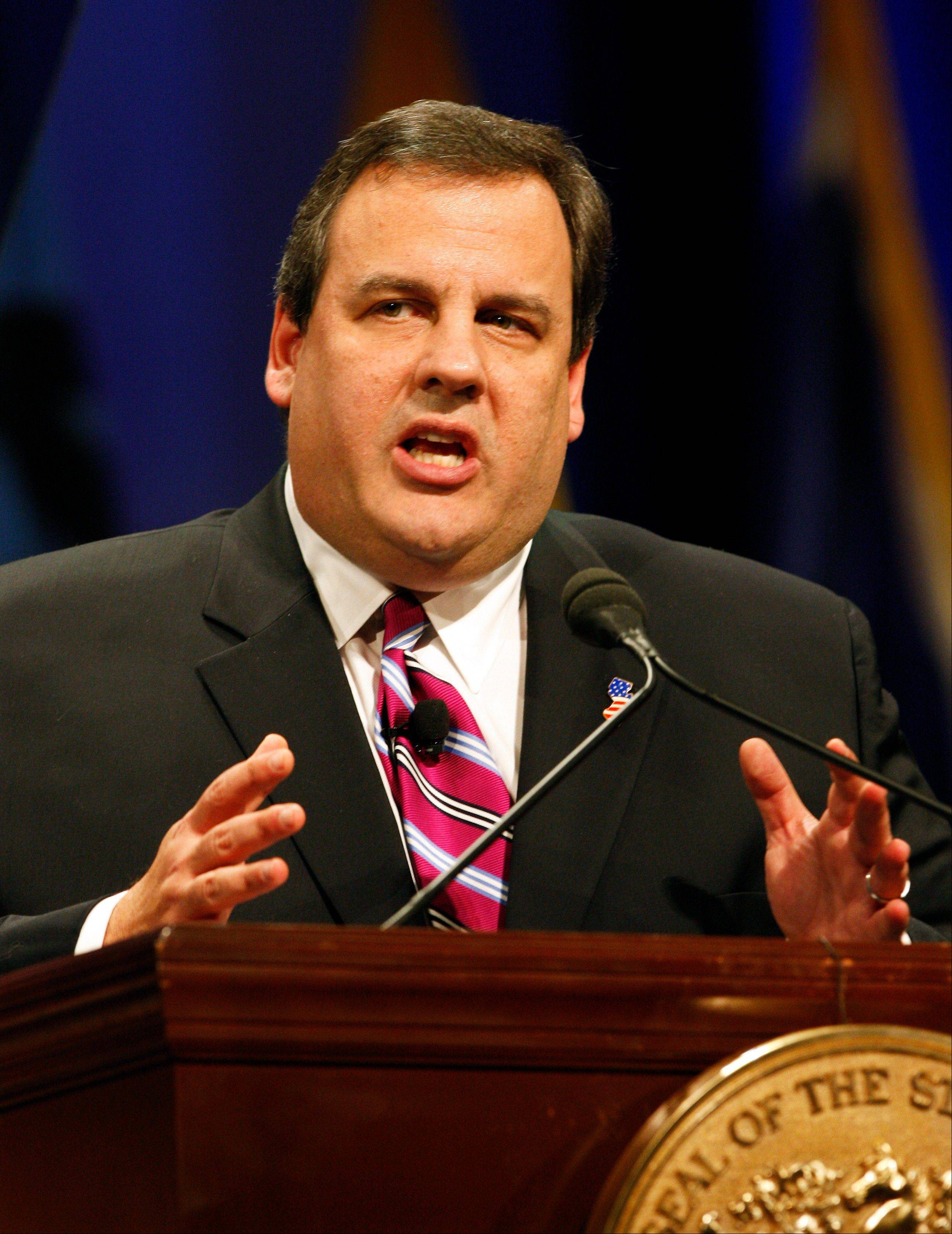 New Jersey Gov. Chris Christie speaking during his inauguration ceremony in 2010.