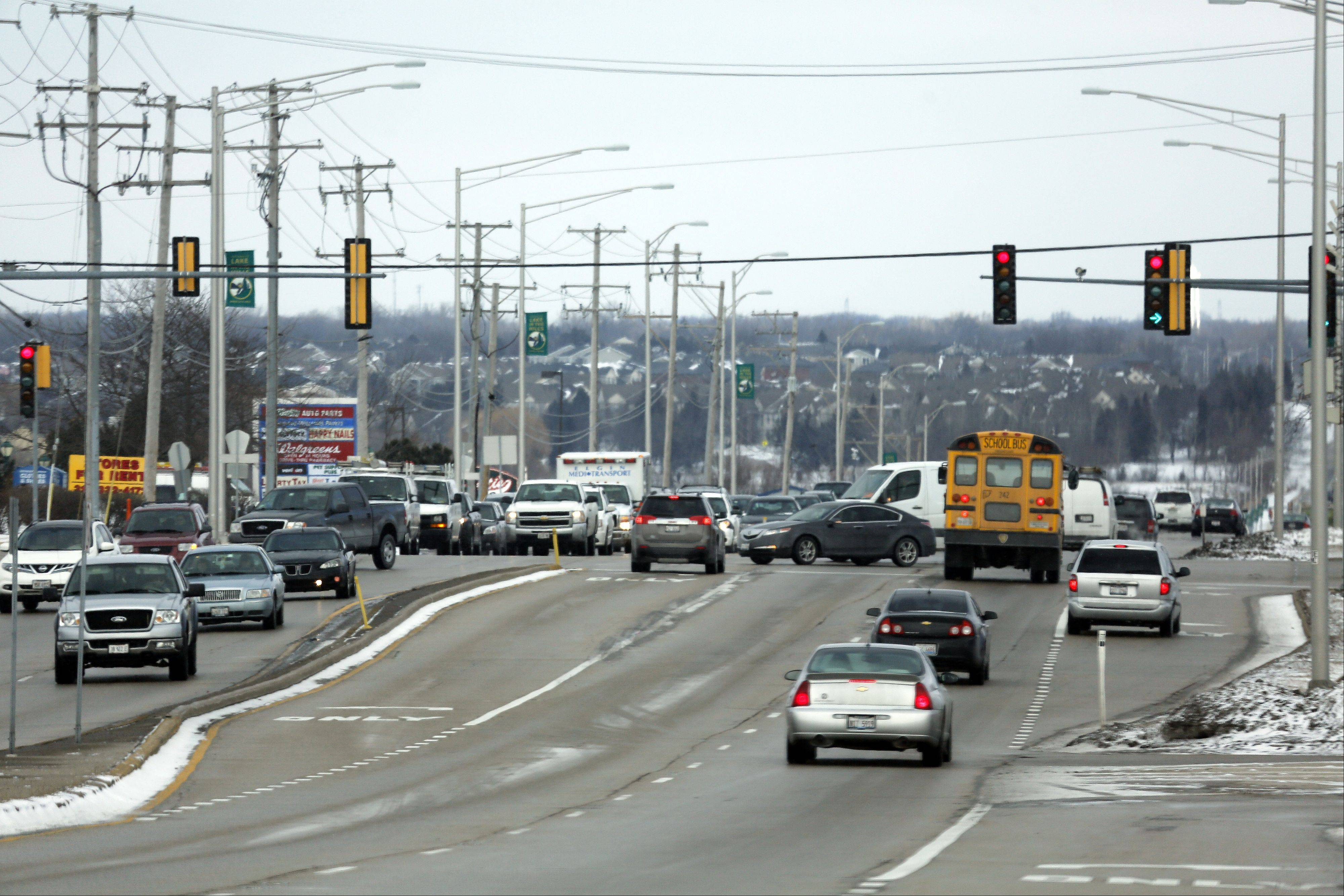 Lake in the Hills village officials say they are opposed to a McHenry County Division of Transportation proposal for a continuous flow intersection at Randall and Algonquin roads.