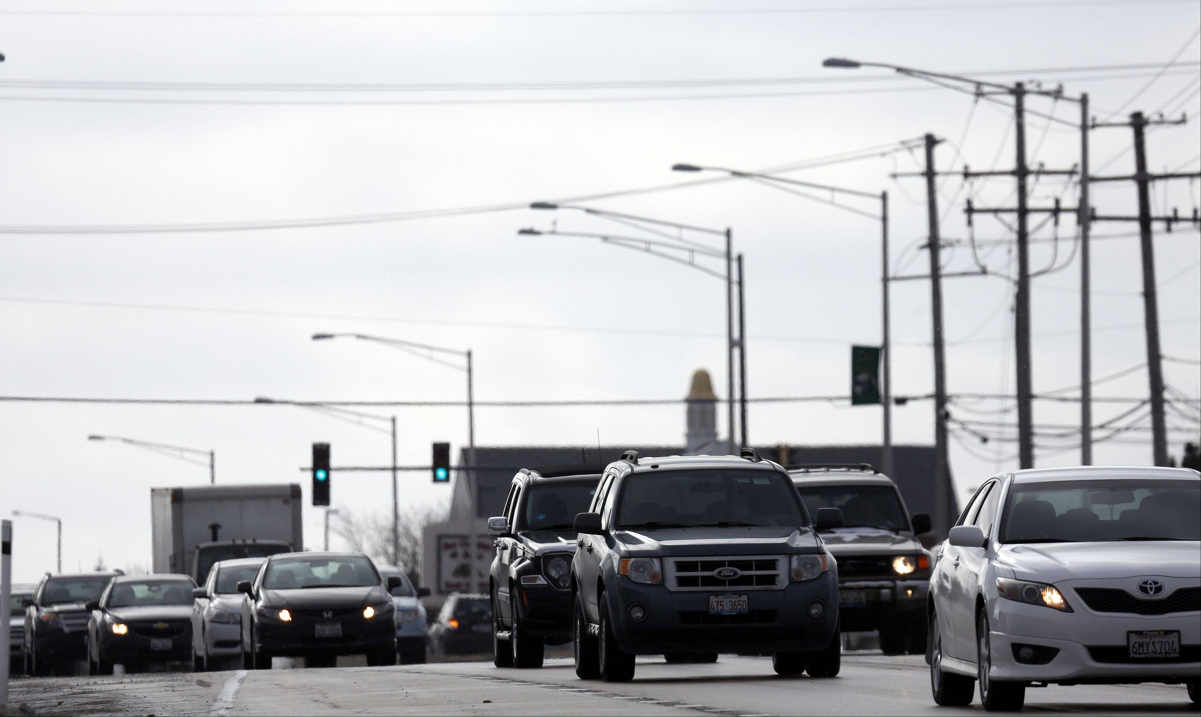 A continuous flow intersection at Randall and Algonquin roads is part of a McHenry County Division of Transportation plan to improve the 3�-mile stretch of Randall Road from Ackman Road to County Line Road. A preliminary cost estimate for construction for the Randall Road improvement project is $80 million.