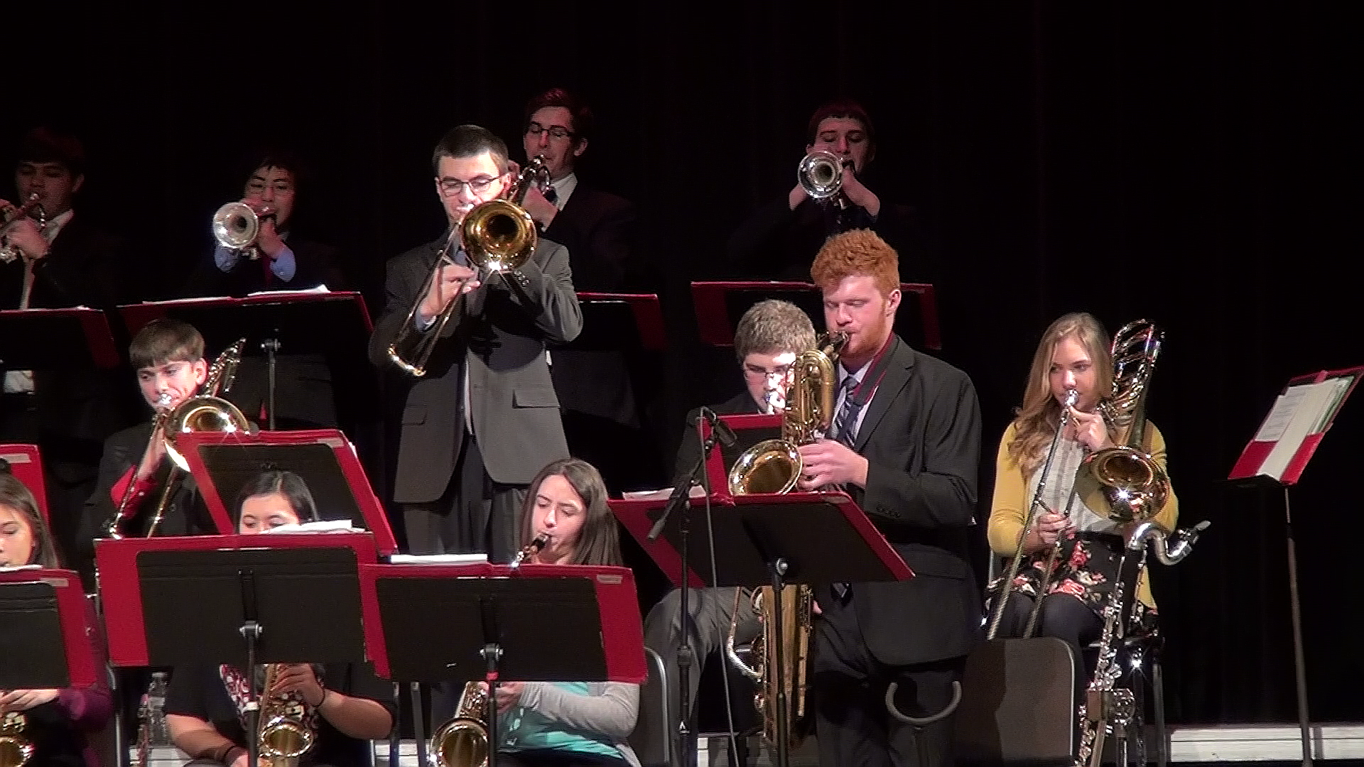 The John Hersey High School Jazz Band 1 gives a winning performance at the Purdue Jazz Festival.