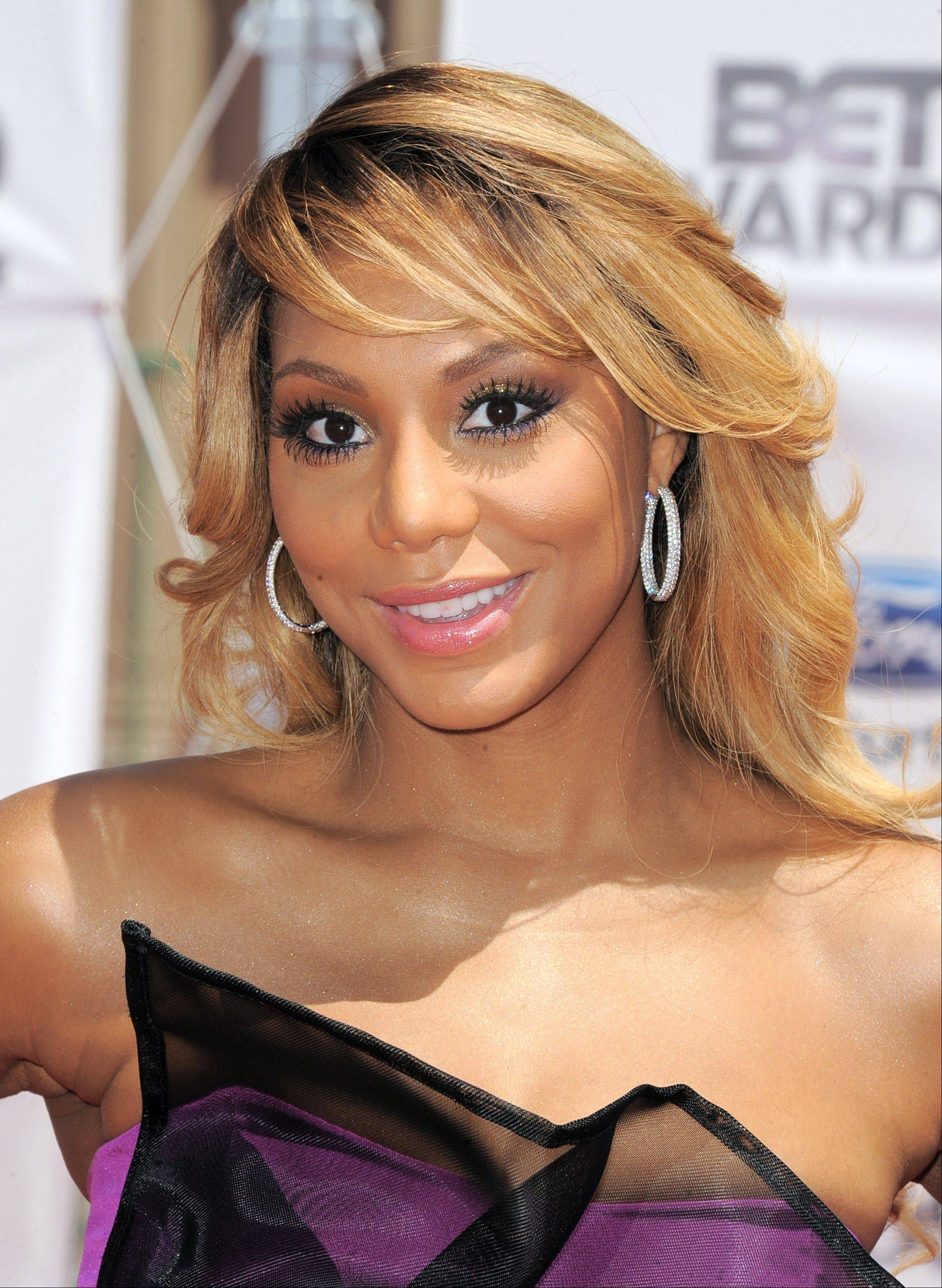 Tamar Braxton at the BET Awards in Los Angeles. Braxton is nominated for three honors at Sunday�s Grammy Awards, including best urban contemporary album for her first album in 13 years, �Love and War.� The title track is also nominated for best R&B song and R&B performance.