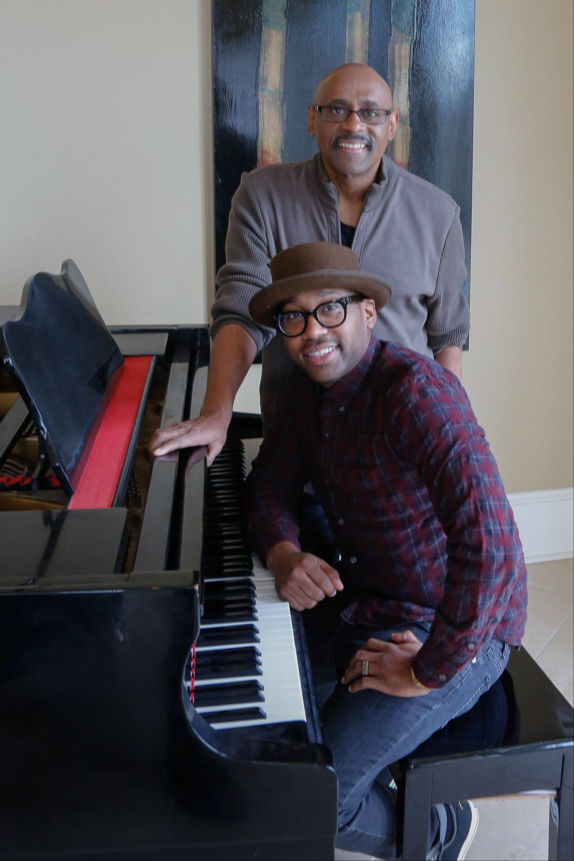 "Bishop Paul Morton, background, and his son PJ Morton are nominated for best gospel album for ""Best Days Yet,"" the elder Morton's album where PJ wrote and produced four songs. The Mortons are the first to accomplish the feat since Bob and Jakob Dylan did so in 1998."