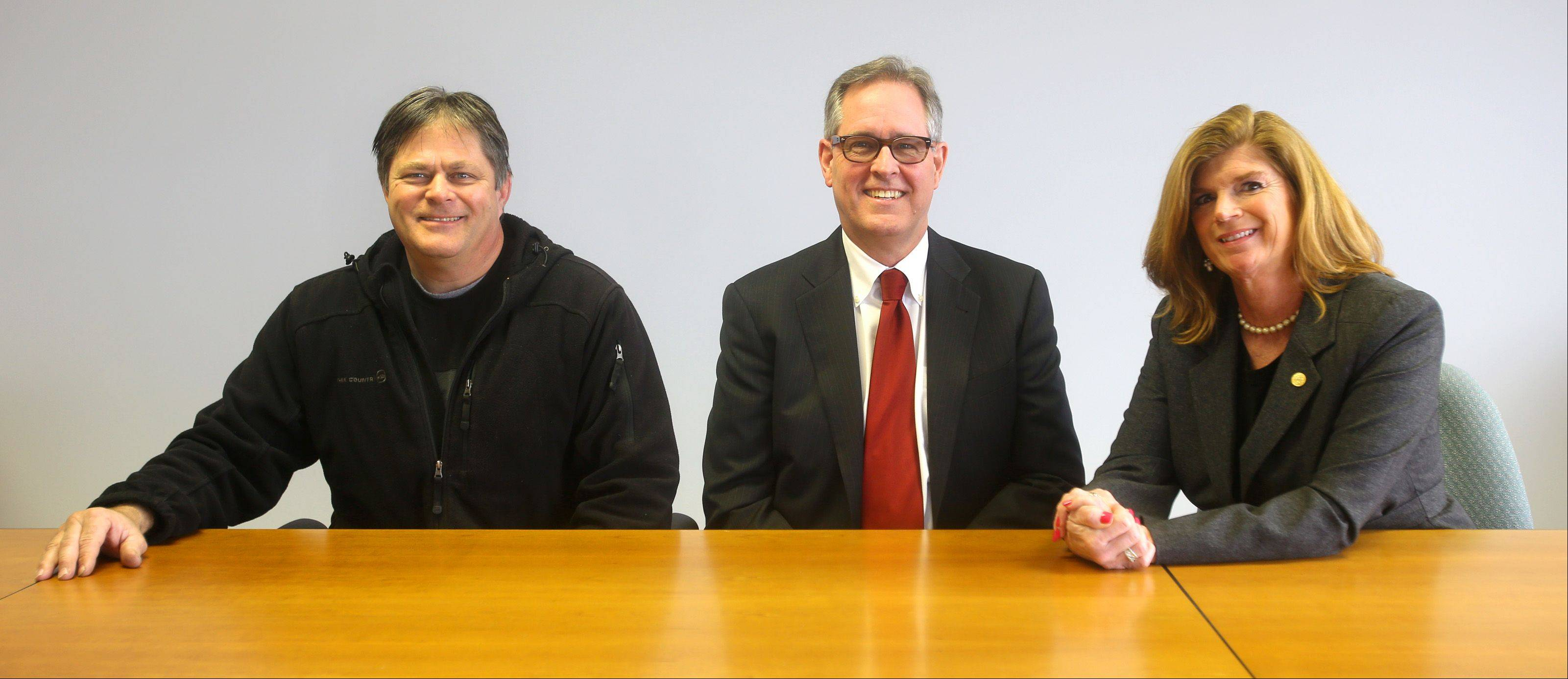"Michael ""Big Mike"" Strick, Charles ""Chuck"" Maher and Suzanne Hart, all of Naperville, are running for the Republican nomination to represent District 11 on the Will County Board in the March 18 primary election."