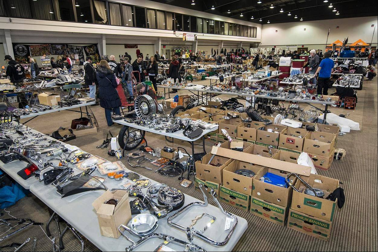 A large parts swap meet was part of the 2014 Chicago Cycle Show at Pheasant Run Resort and Convention Center in St. Charles.