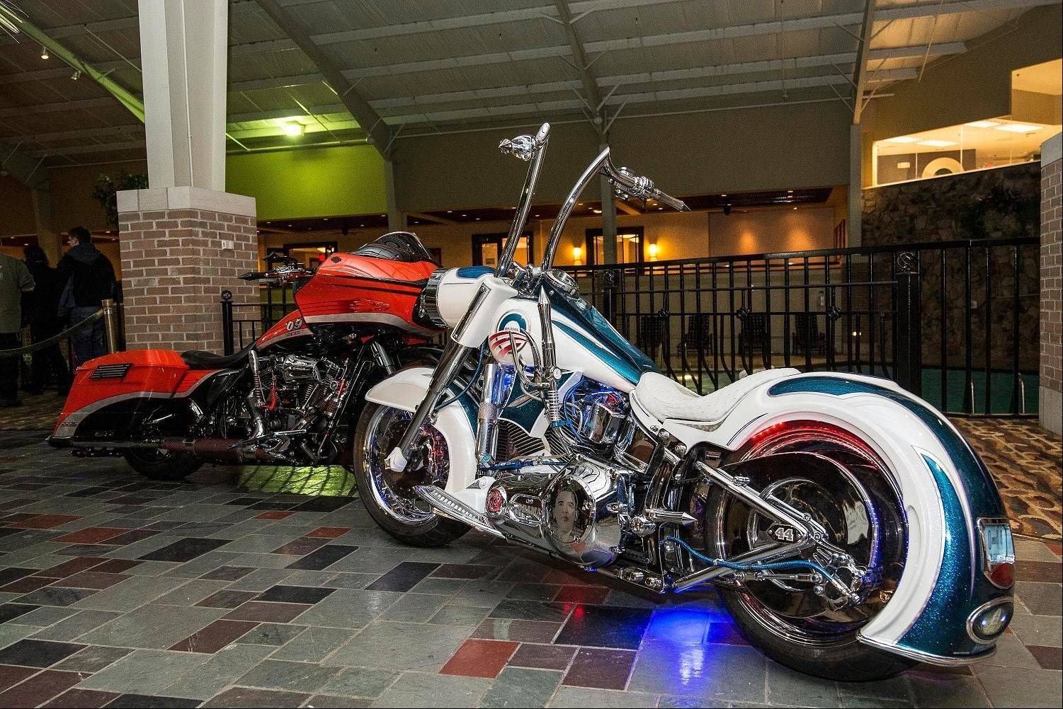 Motorcycles filled the garden atrium and lined the hallways of Pheasant Run Resort and Convention Center in St. Charles during the 2014 Chicago Cycle Show.
