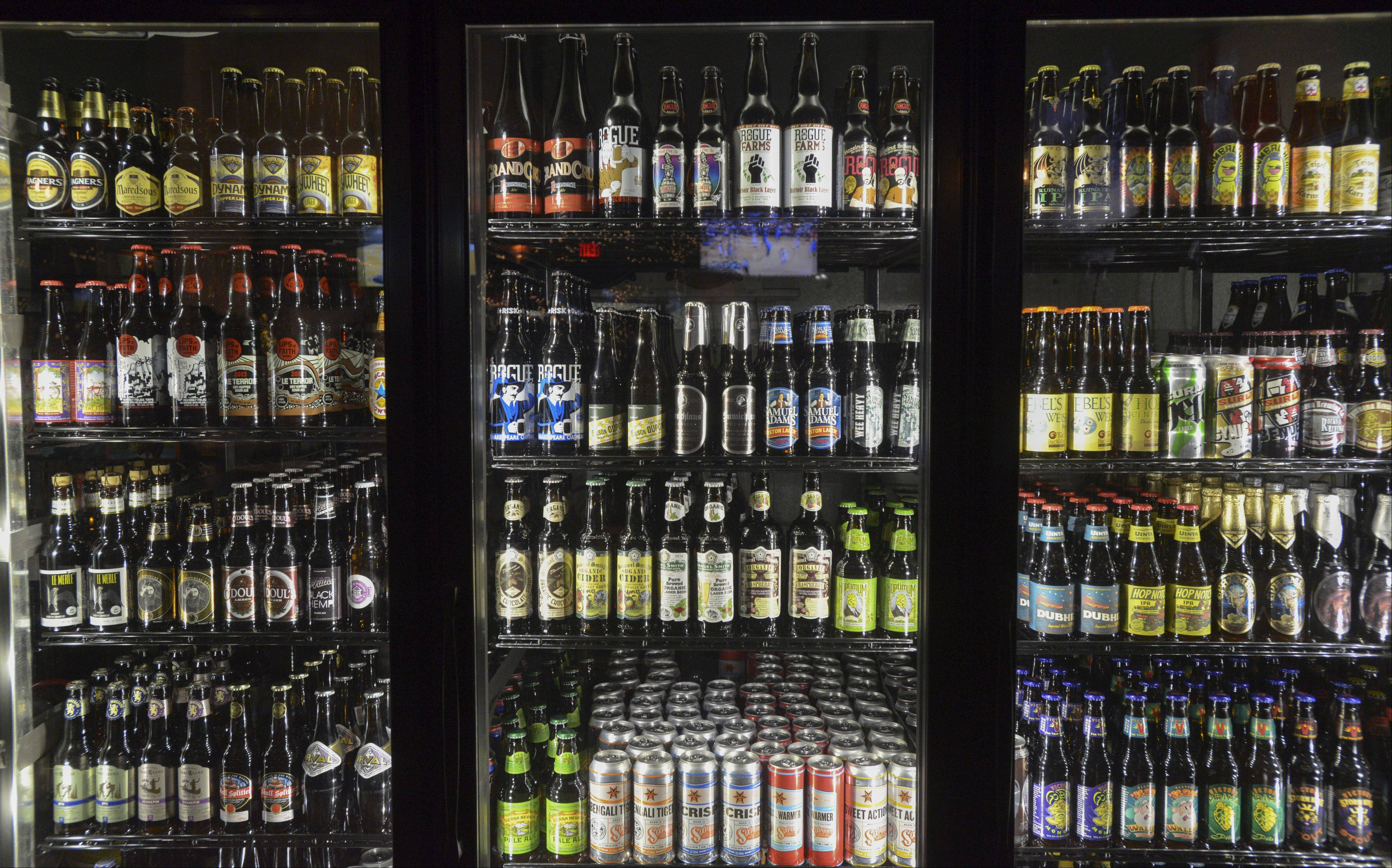 Lombard's Beer House offers more than 300 beers by the bottle.