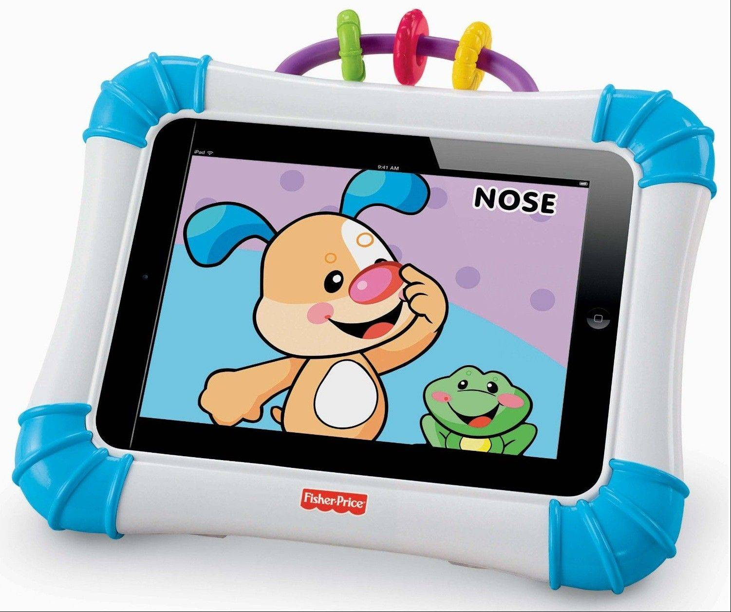 Fisher Price Laugh and Learn Apptivity Case for iPad allows your infant to play with your iPad without destroying it or making accidental calls.