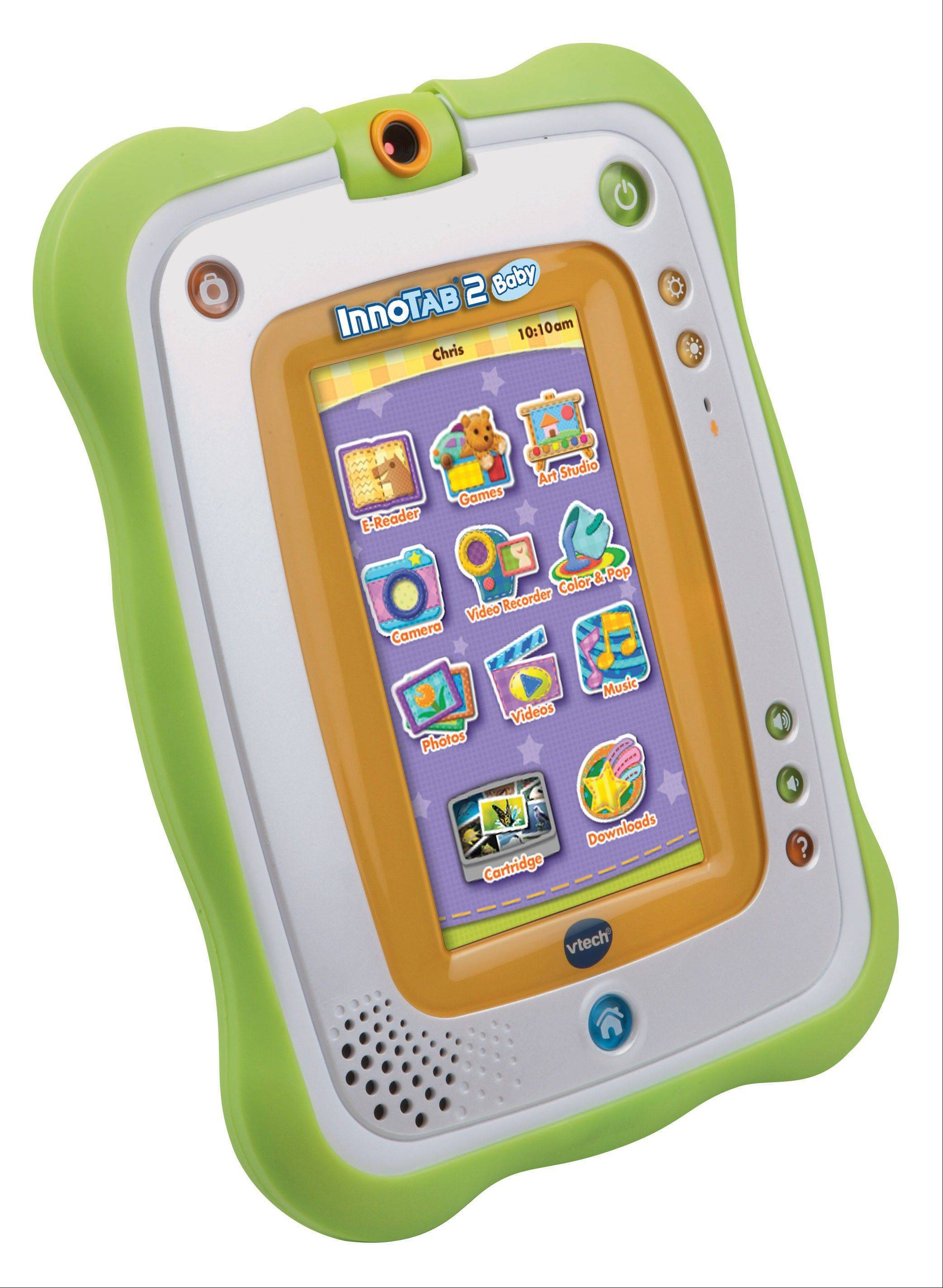 InnoTab2 includes a photo/video camera, allows kids to read animated e-books, has a microphone and tilt sensor for a variety of games and learning activities. Also includes an art studio and MP3 player for creative activities. Durable material allows young children to have a tablet of their own without worrying about them breaking or destroying yours.