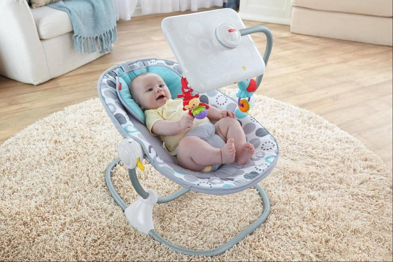 Fisher Price Apptivity Seat for iPad allows you to encase your iPad in a case for your baby to use without destroying it or making unwanted phone calls.