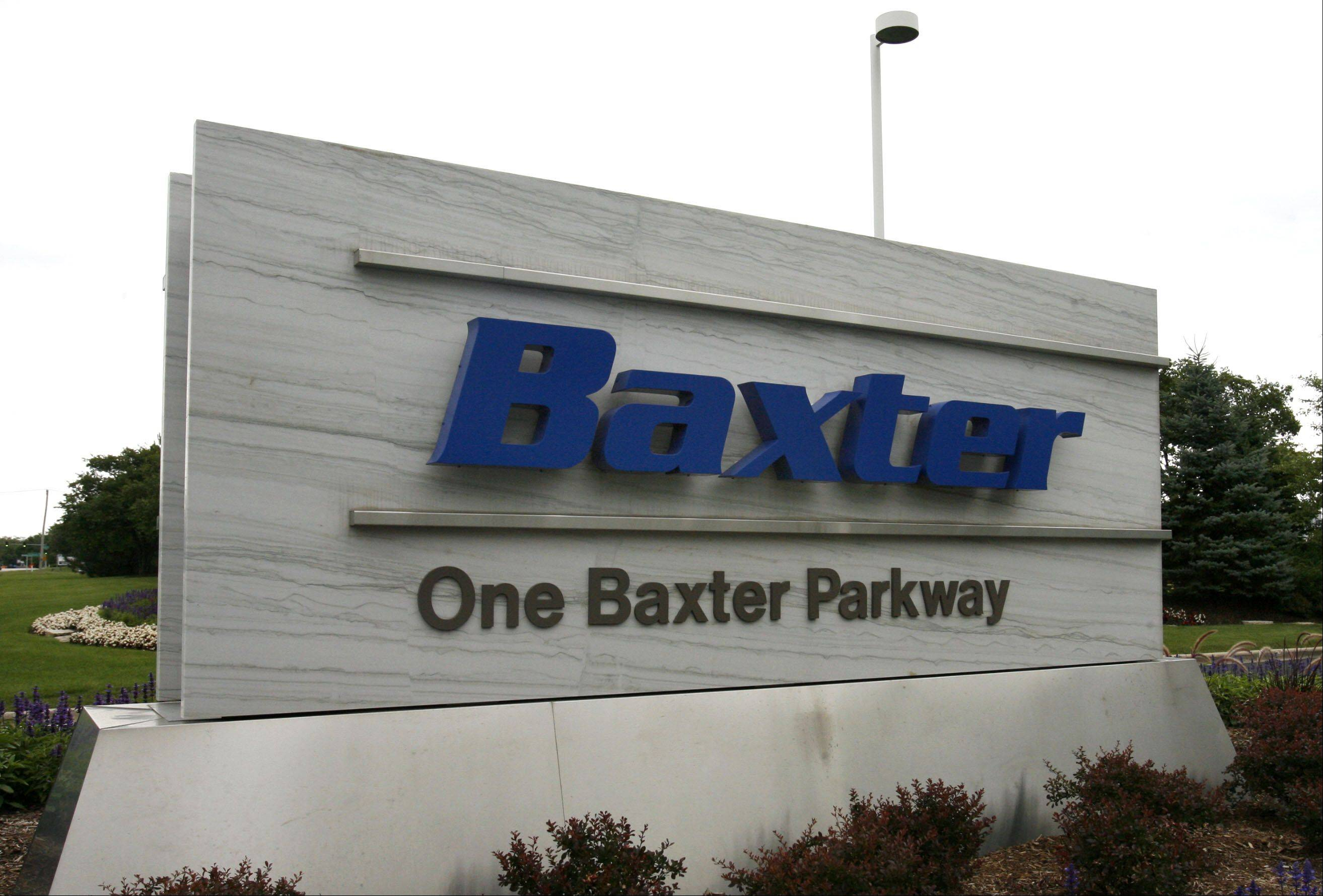 Deerfield-based Baxter International Inc., a maker of dialysis products, reported fourth-quarter profit that beat analysts� estimates on demand for hemophilia therapies.