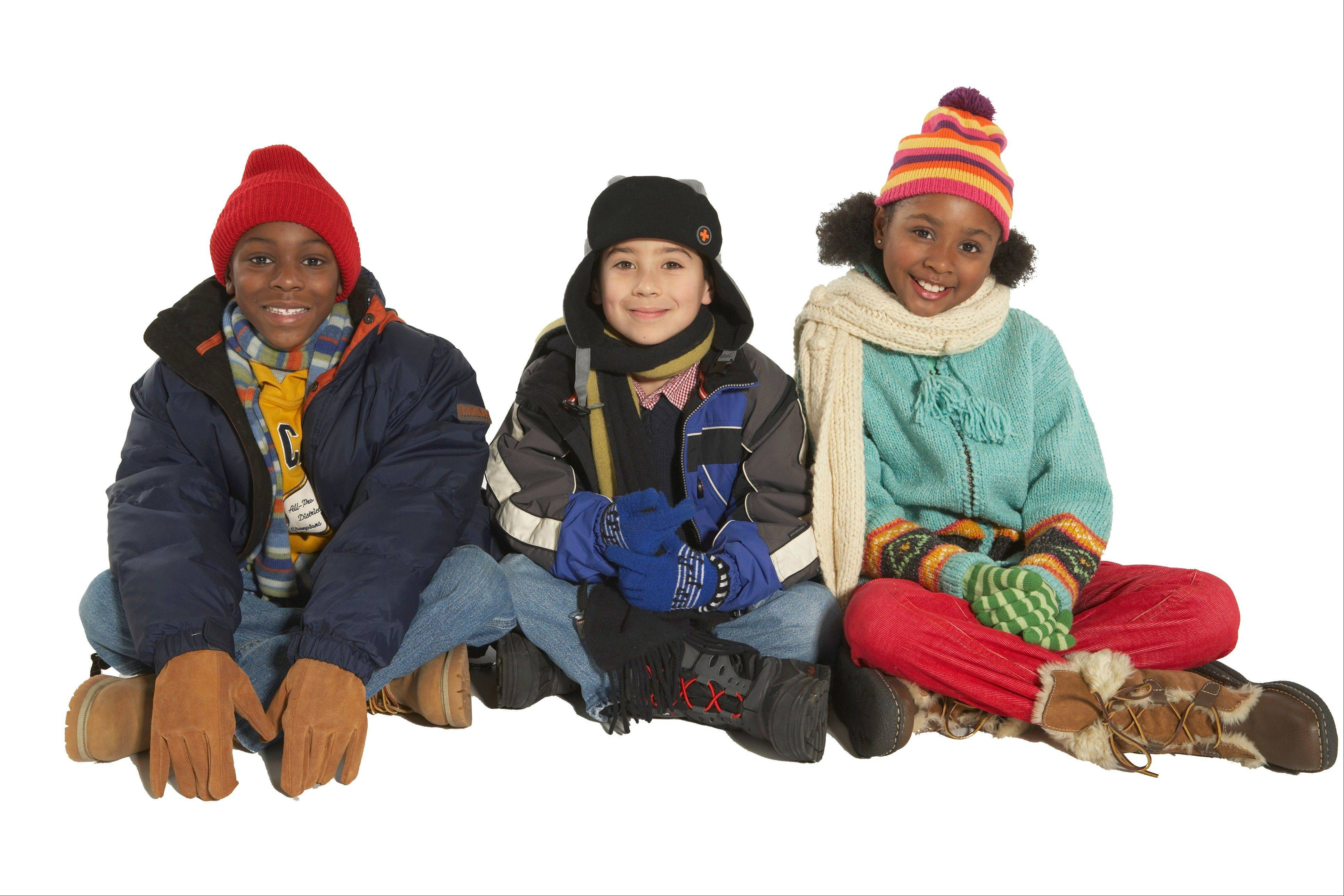 Kids lose body heat faster than adults, so they should be bundled properly in jackets, hats and gloves. And yes, we do lose more heat through our heads, so a hat is important.
