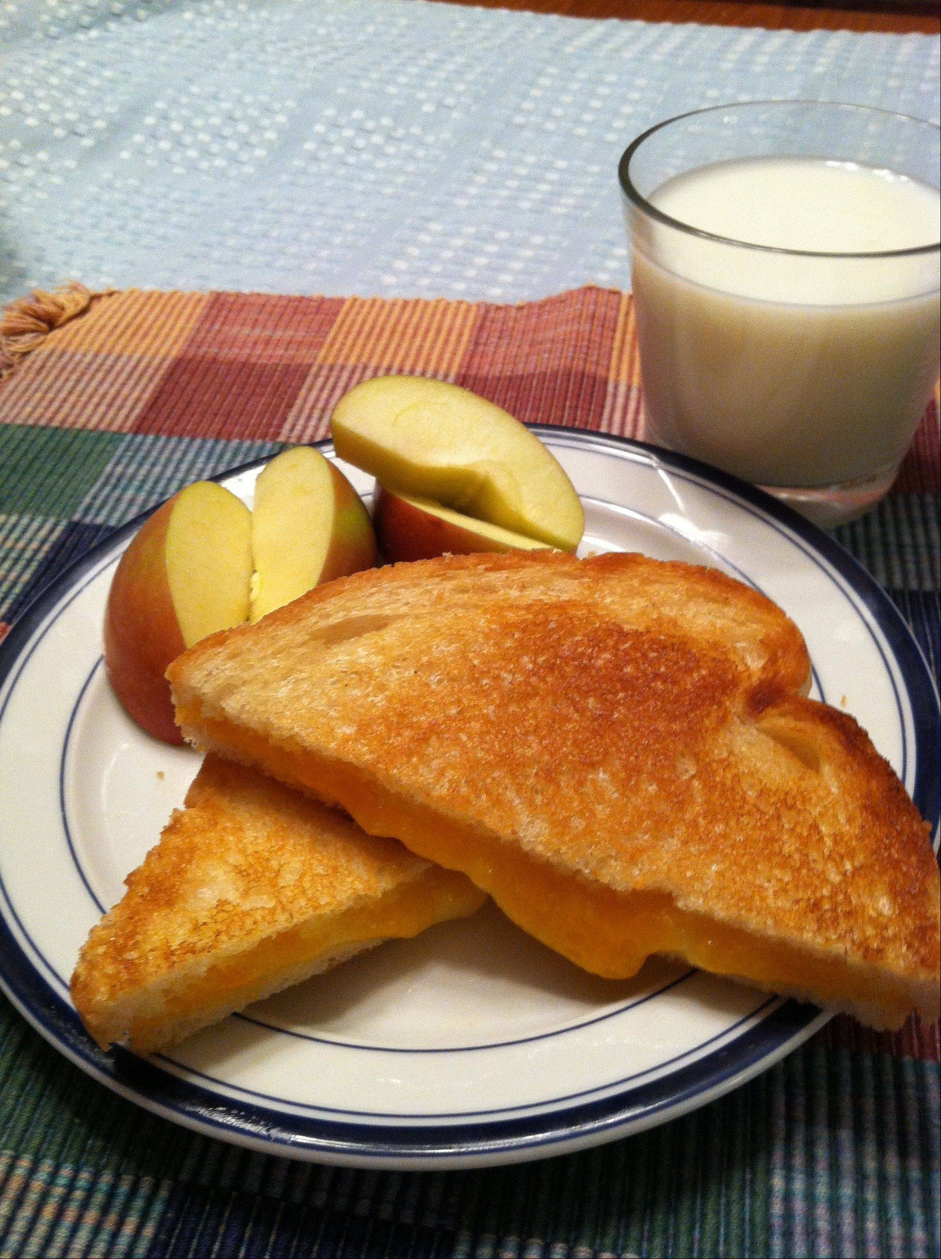 You�re never too old to enjoy a warm, gooey grilled cheese sandwich.