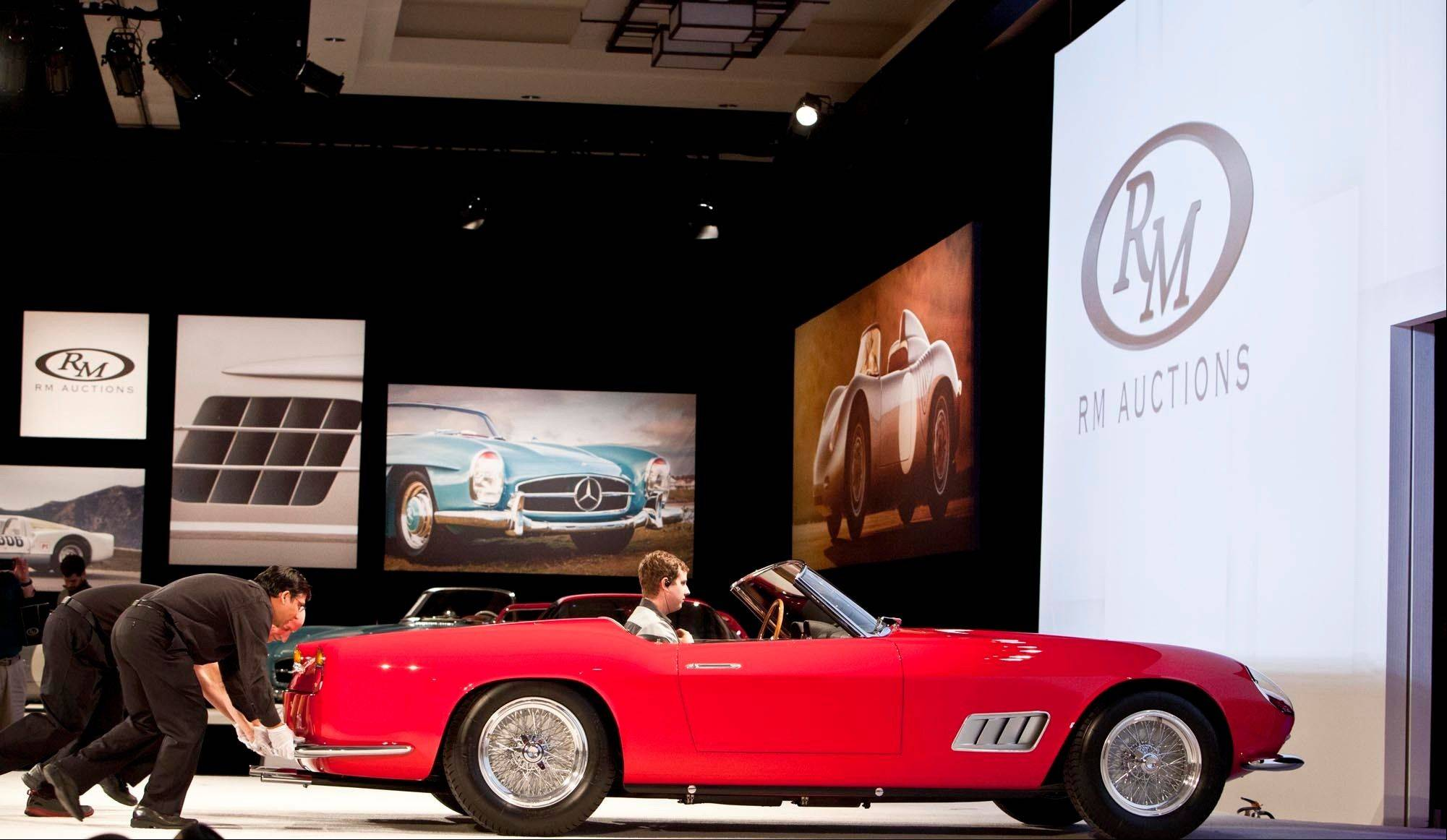 A 1958 Ferrari 250 GT Series 1 Cabriolet sold for $8.8 million Jan. 17 at the RM Auction at the Arizona Biltmore in Phoenix.
