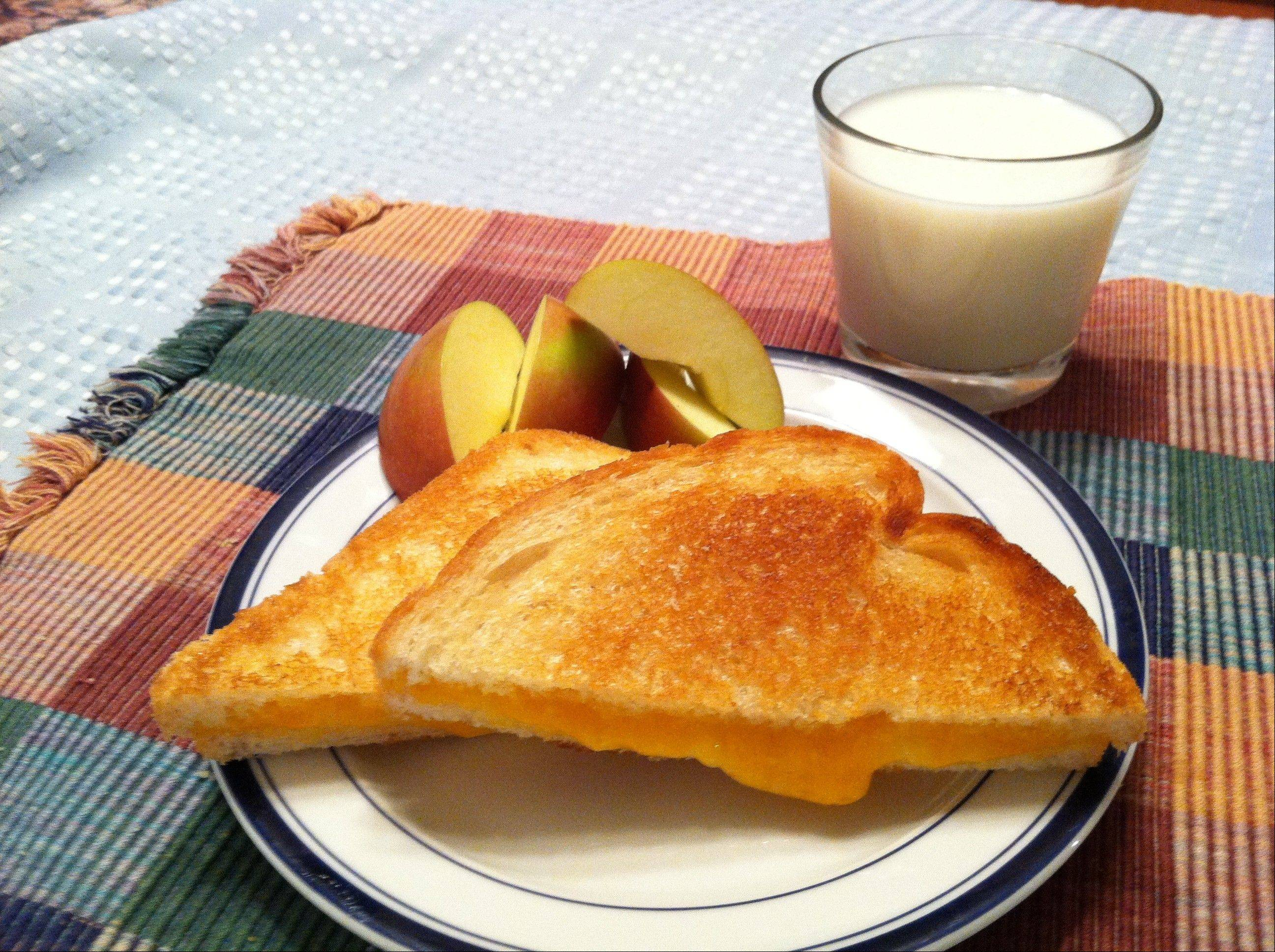 Cheddar is the most popular cheese in America and shines on a grilled cheese sandwich.