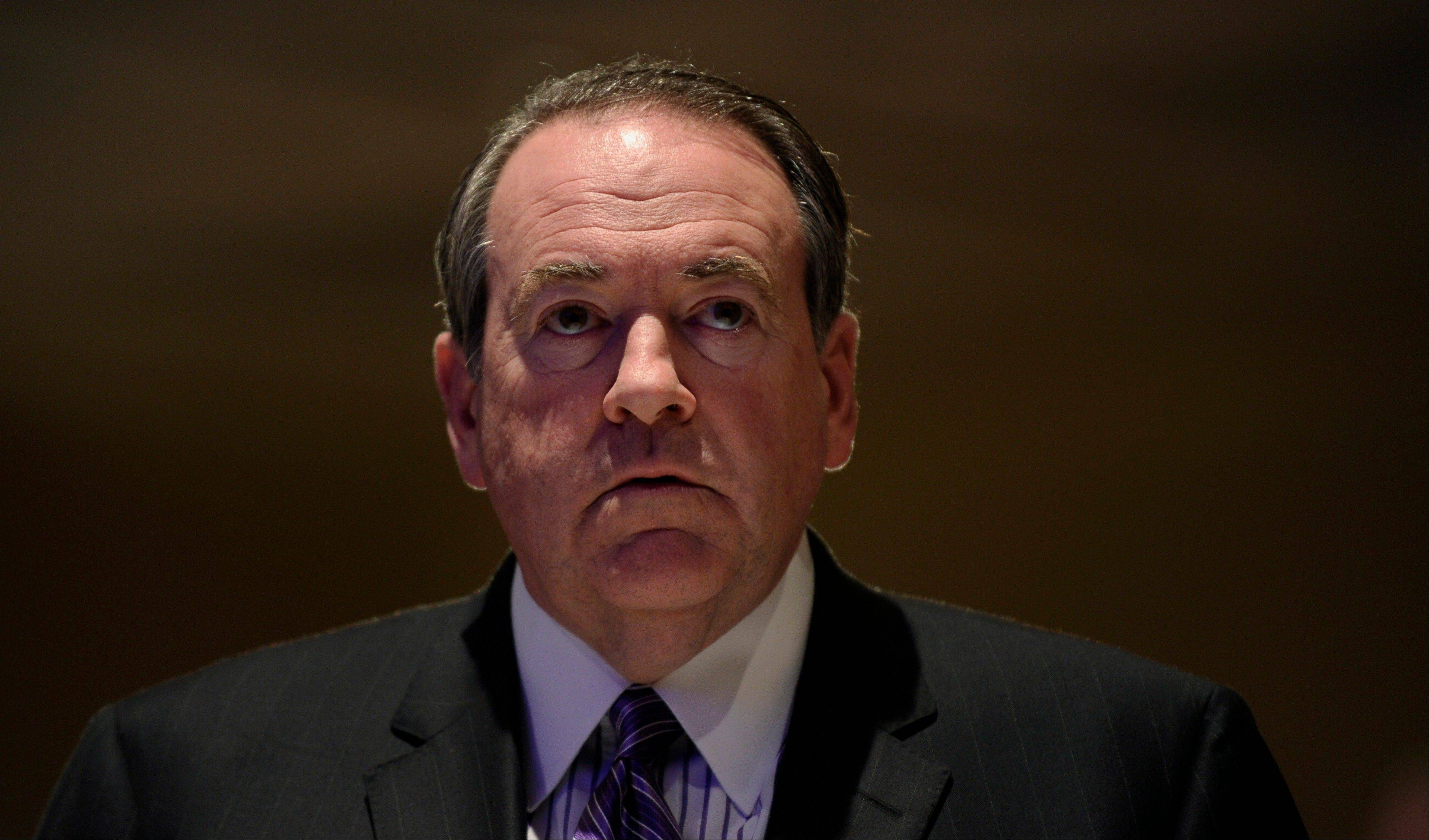 Former Arkansas Gov. Mike Huckabee, speaking at the Republican National Committee winter meeting Thursday, said the GOP needs to broaden its appeal and end its internal divisiveness.