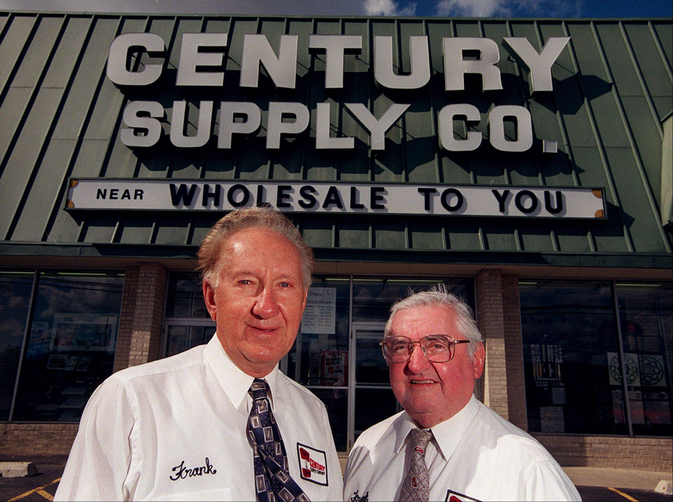 Century Tile and Supply Co. founders Frank Parks Sr., left, and Paul Spiewak in a 2002 photo.