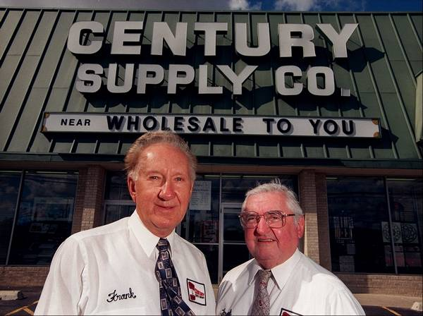 Century Tile And Supply Co Founders Frank Parks Sr Left Paul