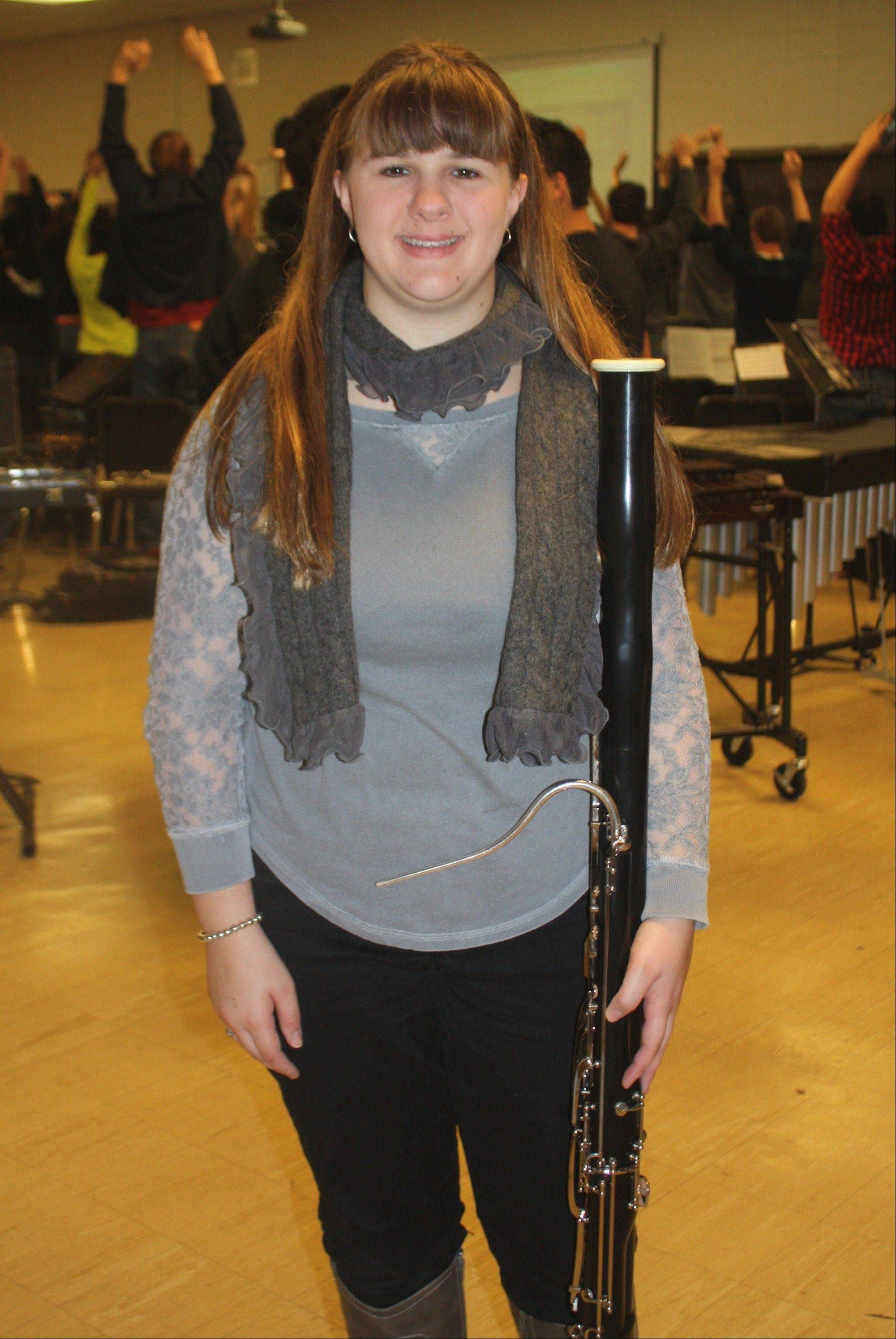 Maine West High School student Nichole Goumas is participating in the Illinois Music Educators Association's All-State Conference in Peoria.