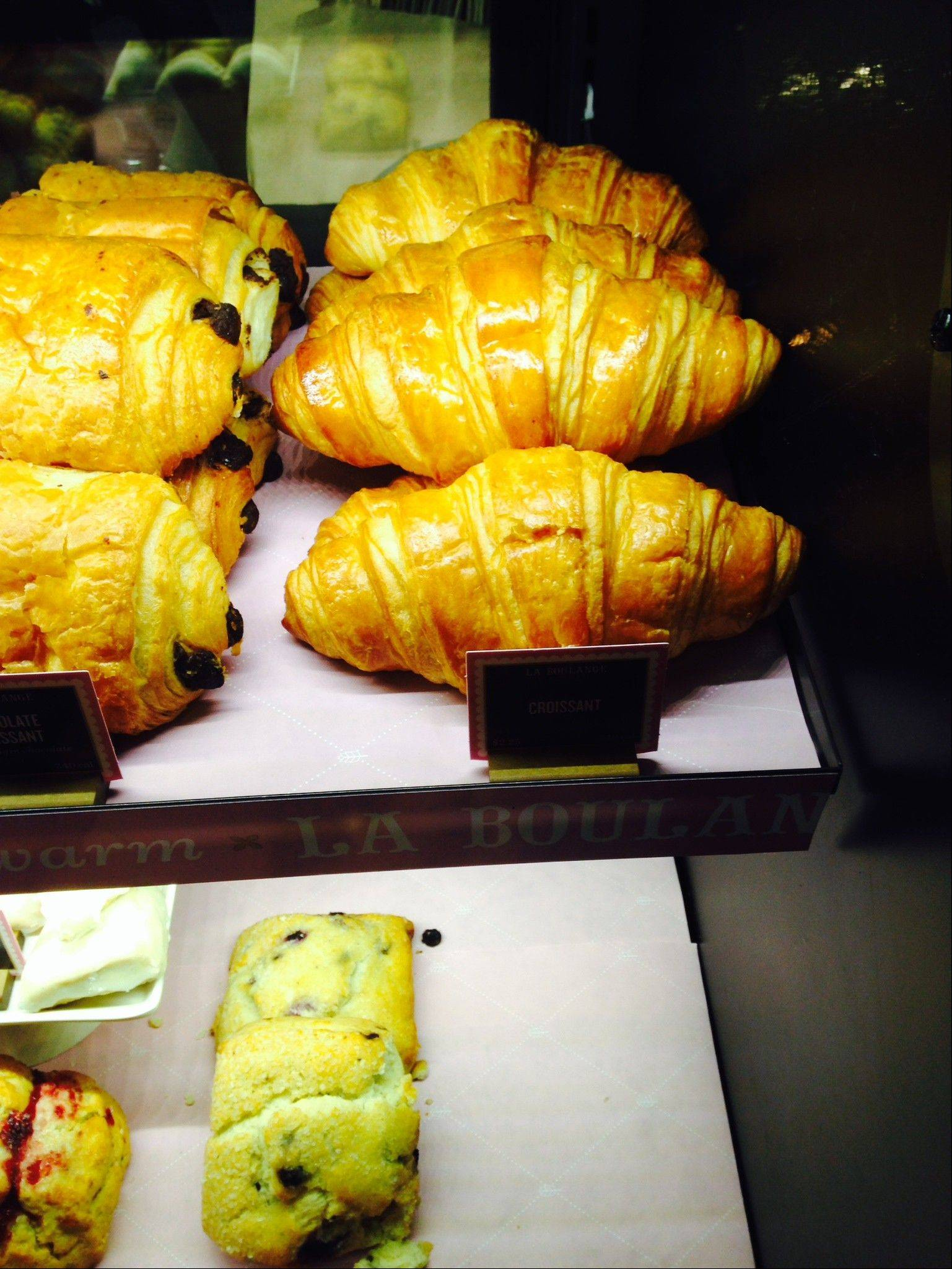 Croissants await sale Friday in a Starbucks in New York.