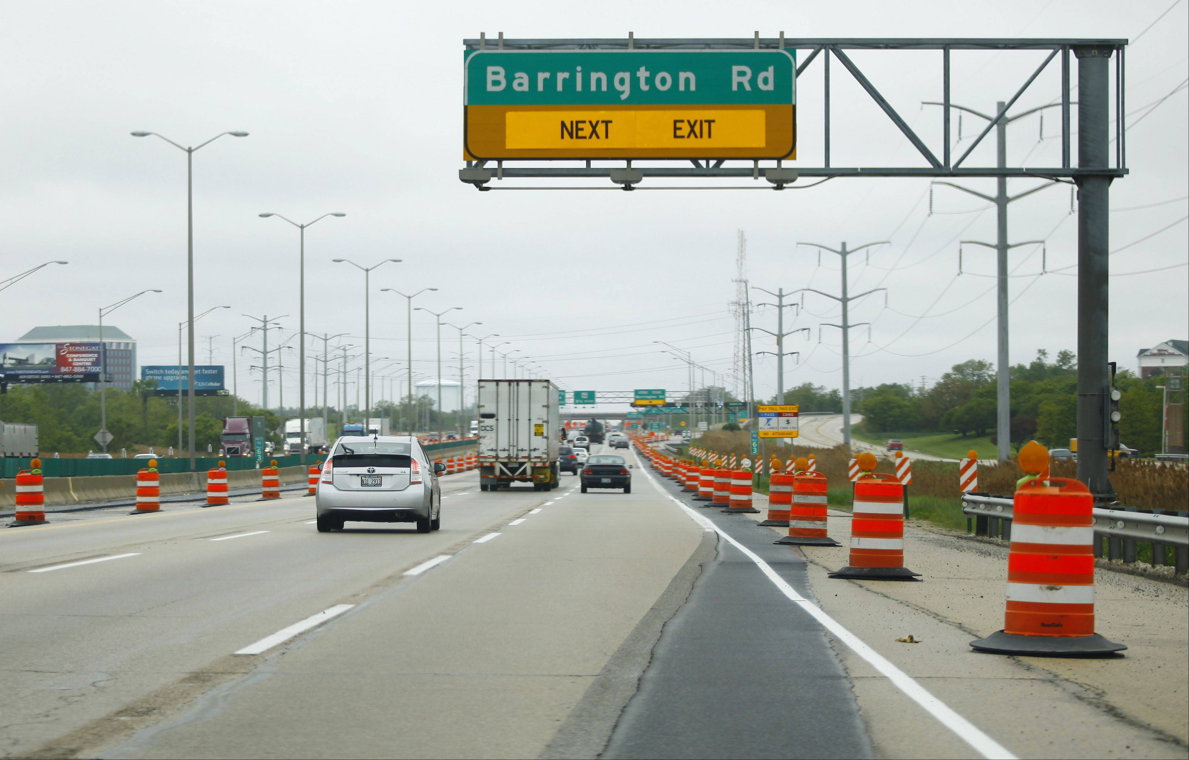 Work is expected to begin in May on reconstruction of the Barrington Road bridge over the Jane Addams Memorial Tollway in Hoffman Estates. The work, expected to cost between $65 million and $70 million, includes the construction of new interchange ramps for traffic to and from the west.
