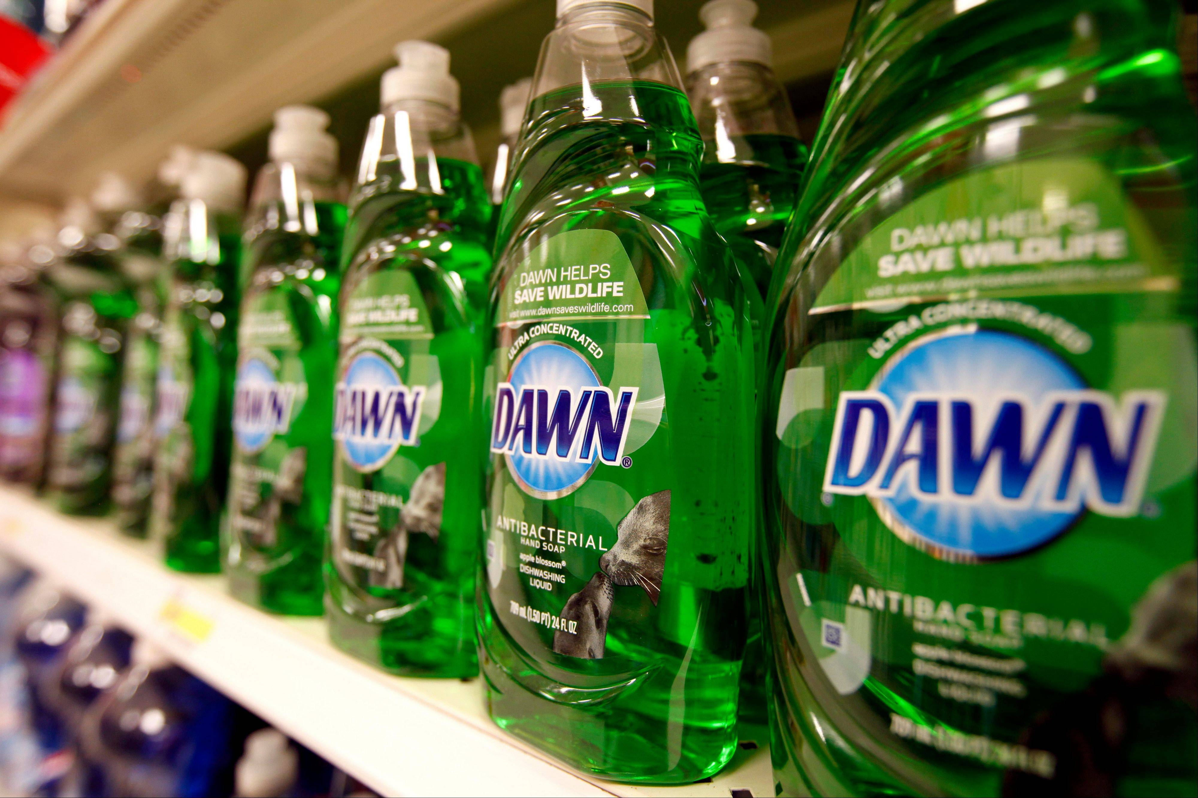 Dawn, a Procter & Gamble product, at a Target in Durham, N.C. The company says its second-quarter net income fell 16 percent as the world's largest consumer products maker faced tough comparisons from a year ago, the stronger dollar and flat sales globally.