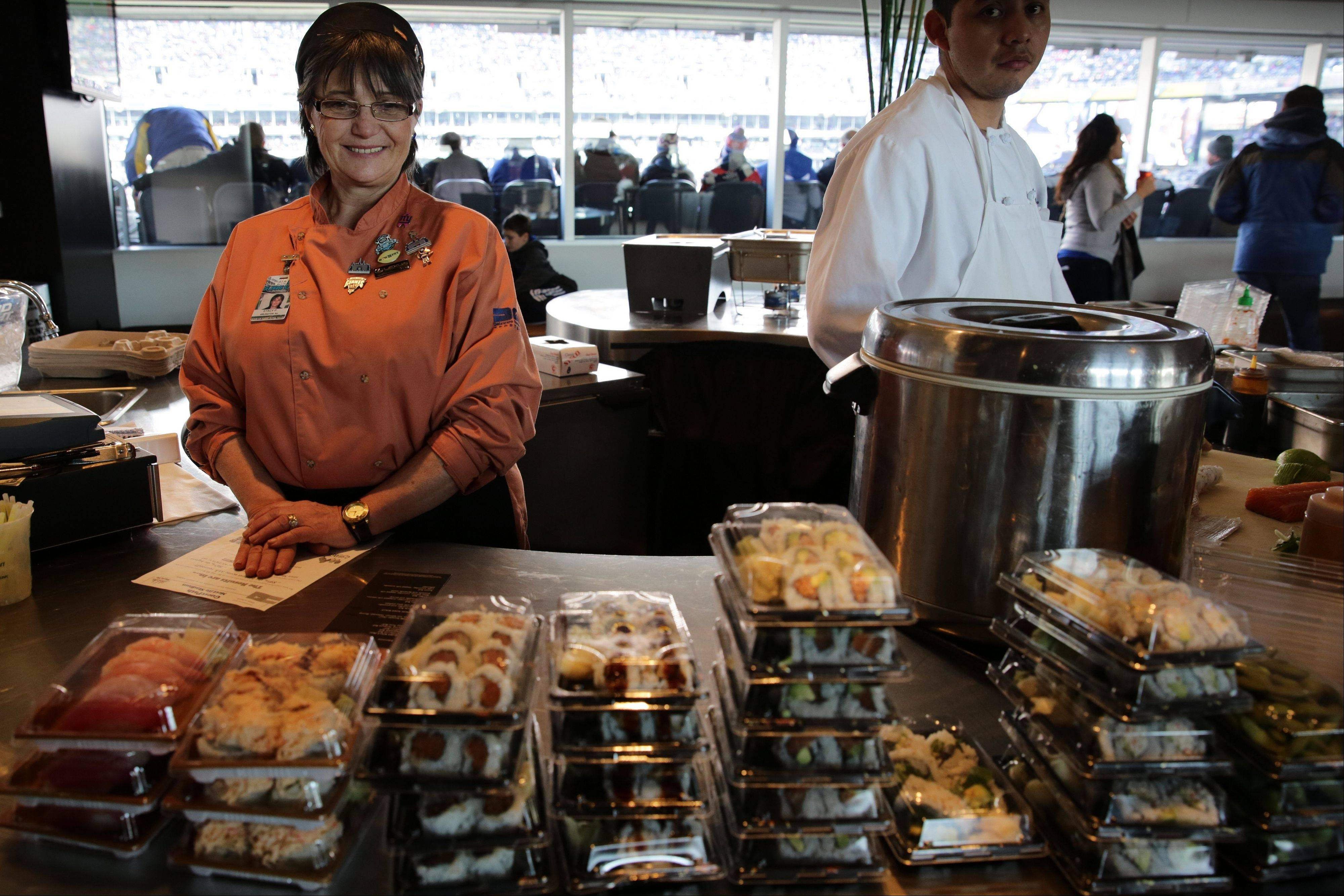 "Those fortunate enough to have tickets to the Super Bowl at MetLife Stadium will be able to gorge on sushi, American, Mexican, Asian and Italian specialties, done with a local flair, in the ""Home Food Advantage"" food court."