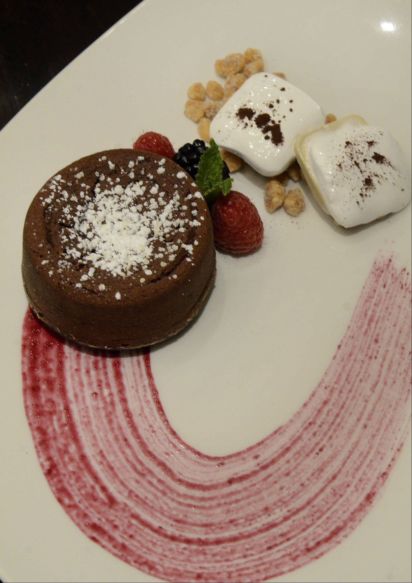 Fresco 21's molten chocolate cake is among the dessert options during Chicago Restaurant Week.