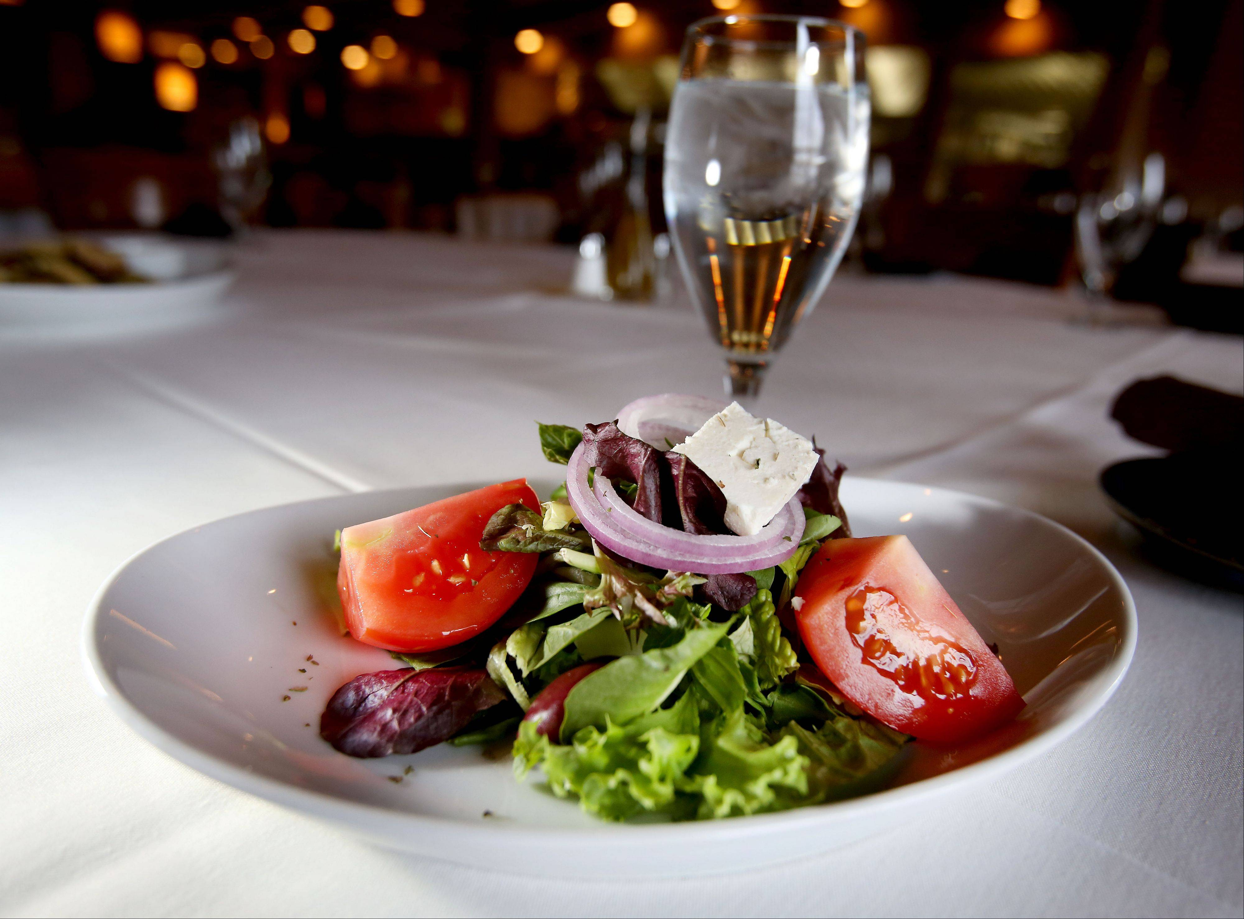 A Greek salad starts lunch or dinner off on a traditional note at Basil's Greek Dining in Aurora.