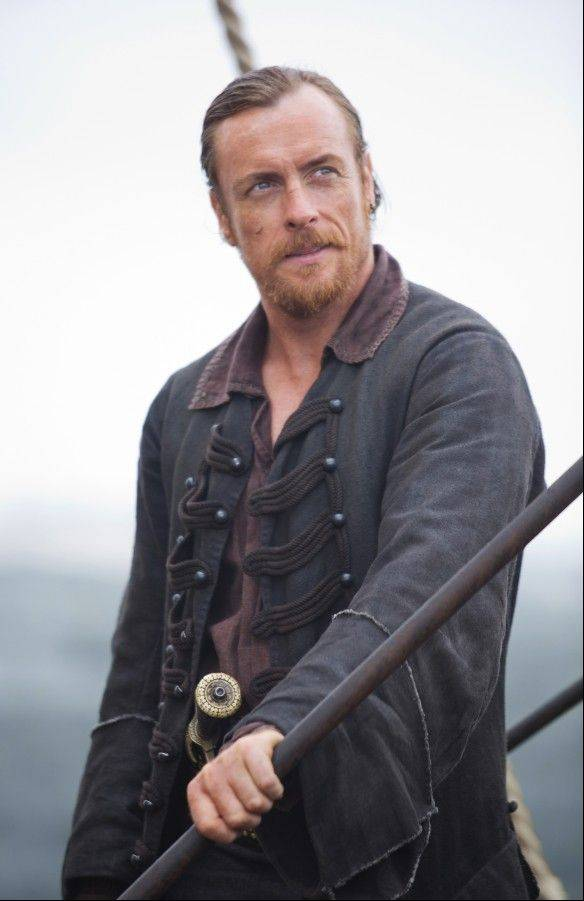 "Capt. Flint (Toby Stephens) seeks treasure in Starz's new pirate drama ""Black Sails,"" debuting Saturday, Jan. 25."
