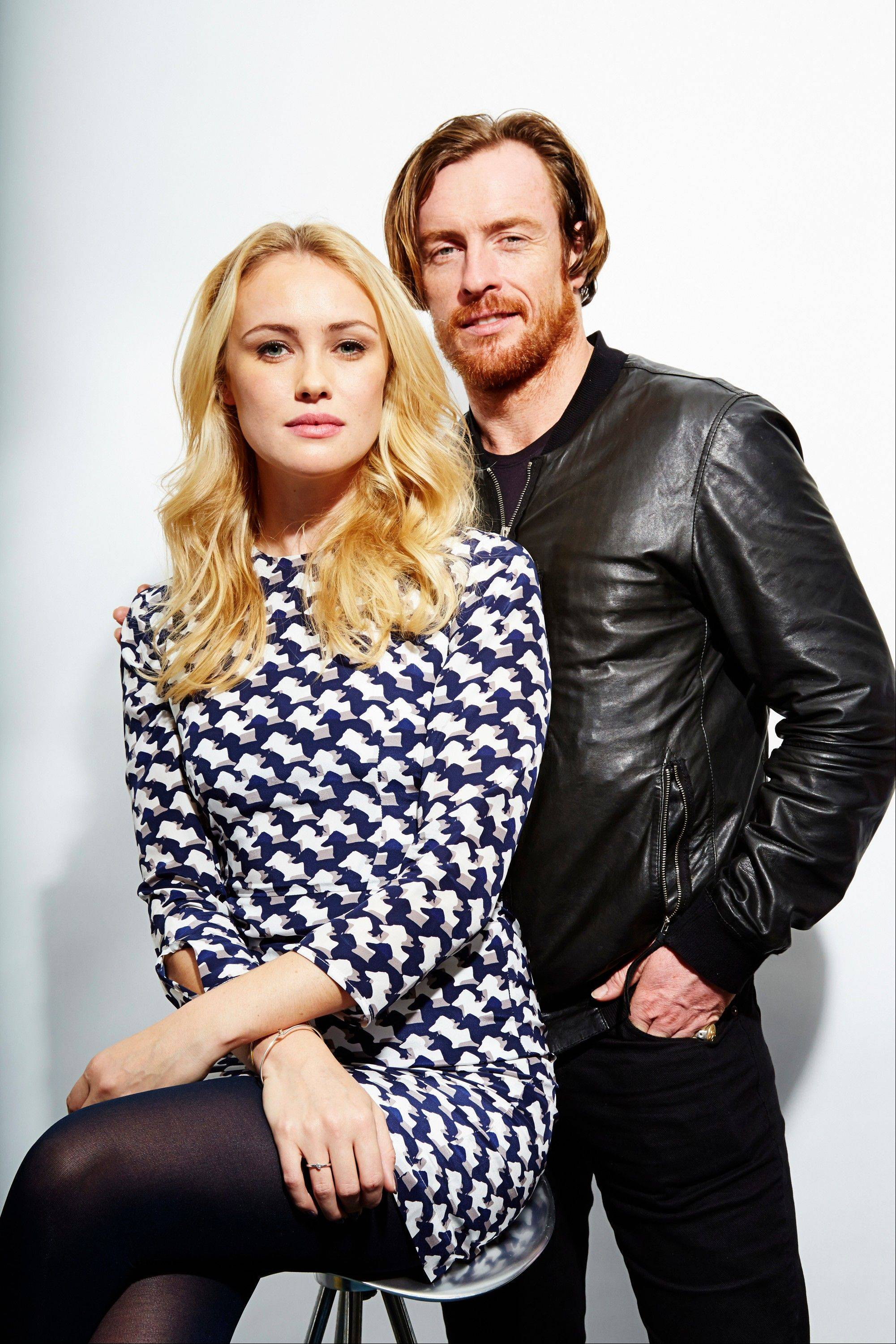 "Toby Stephens plays Capt. Flint and Hannah New plays Eleanor Guthrie in the new Starz original series ""Black Sails."""