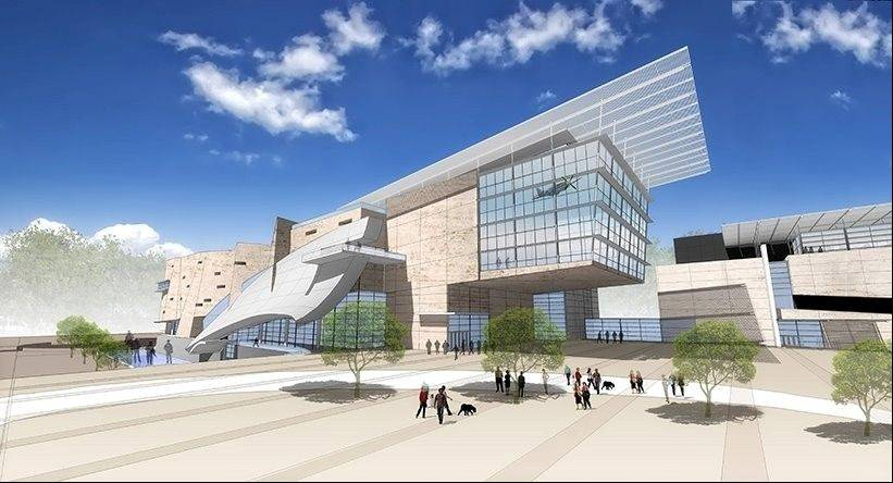 This is an artist's rendering of what the proposed National Veterans Museum in Hoffman Estates would look like.