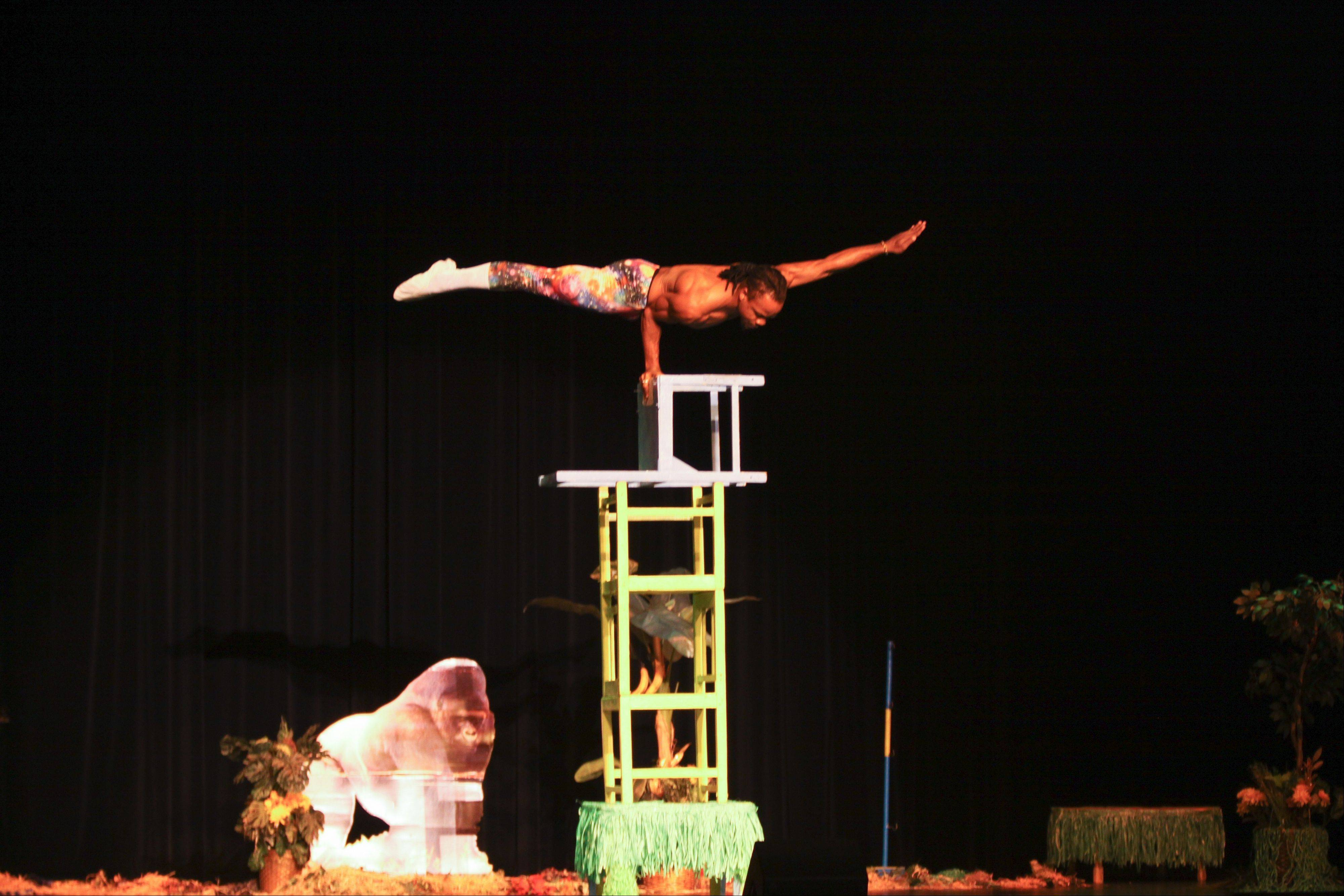 "The Kenya Safari Acrobats will perform incredible stunts during ""Lost in Africa"" being presented 7 p.m. Tuesday, Feb. 4, at Harper College."