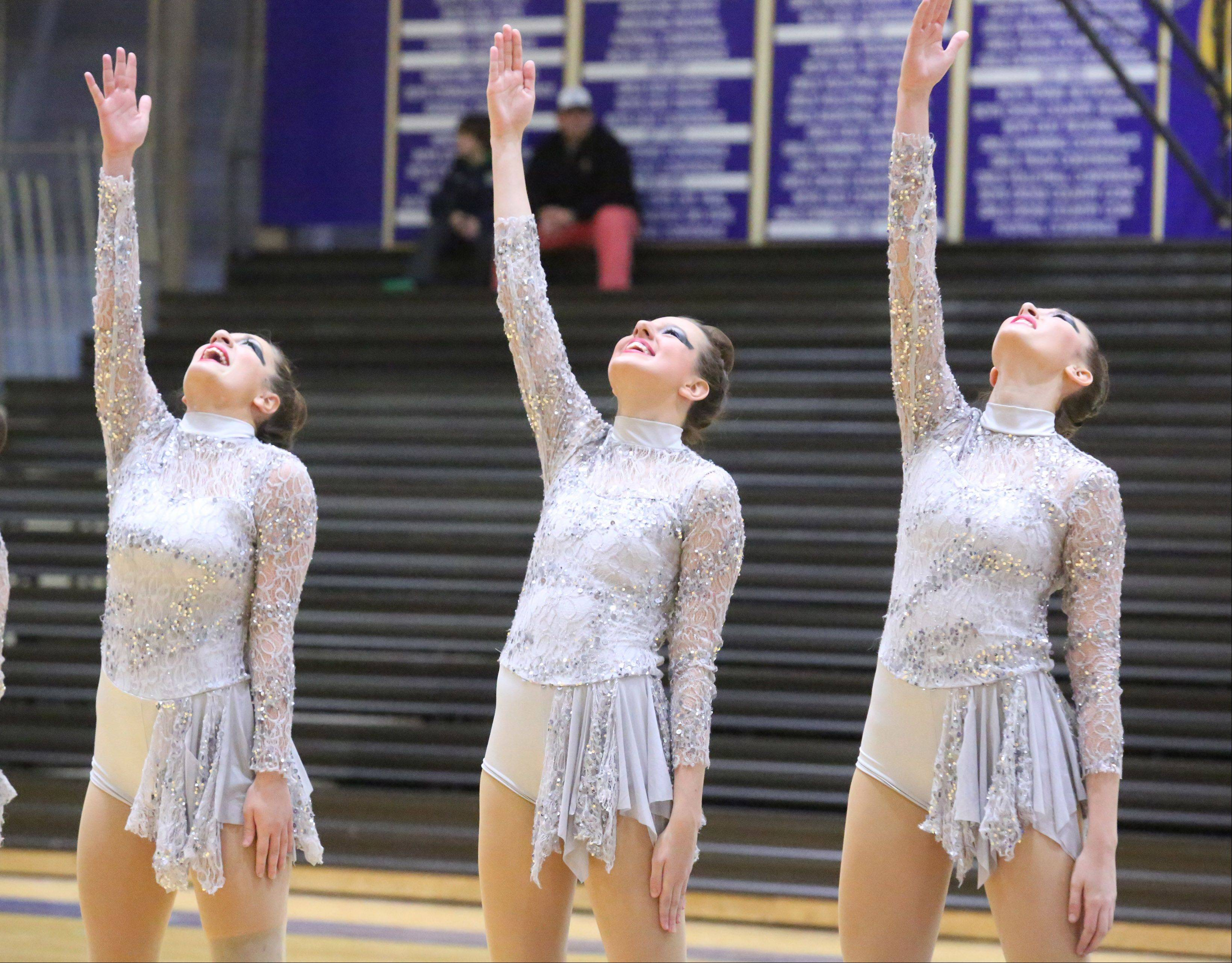 Antioch High School's dance team competes at the IHSA competitive dance sectional at Glenbrook South High School on Saturday in Glenview.